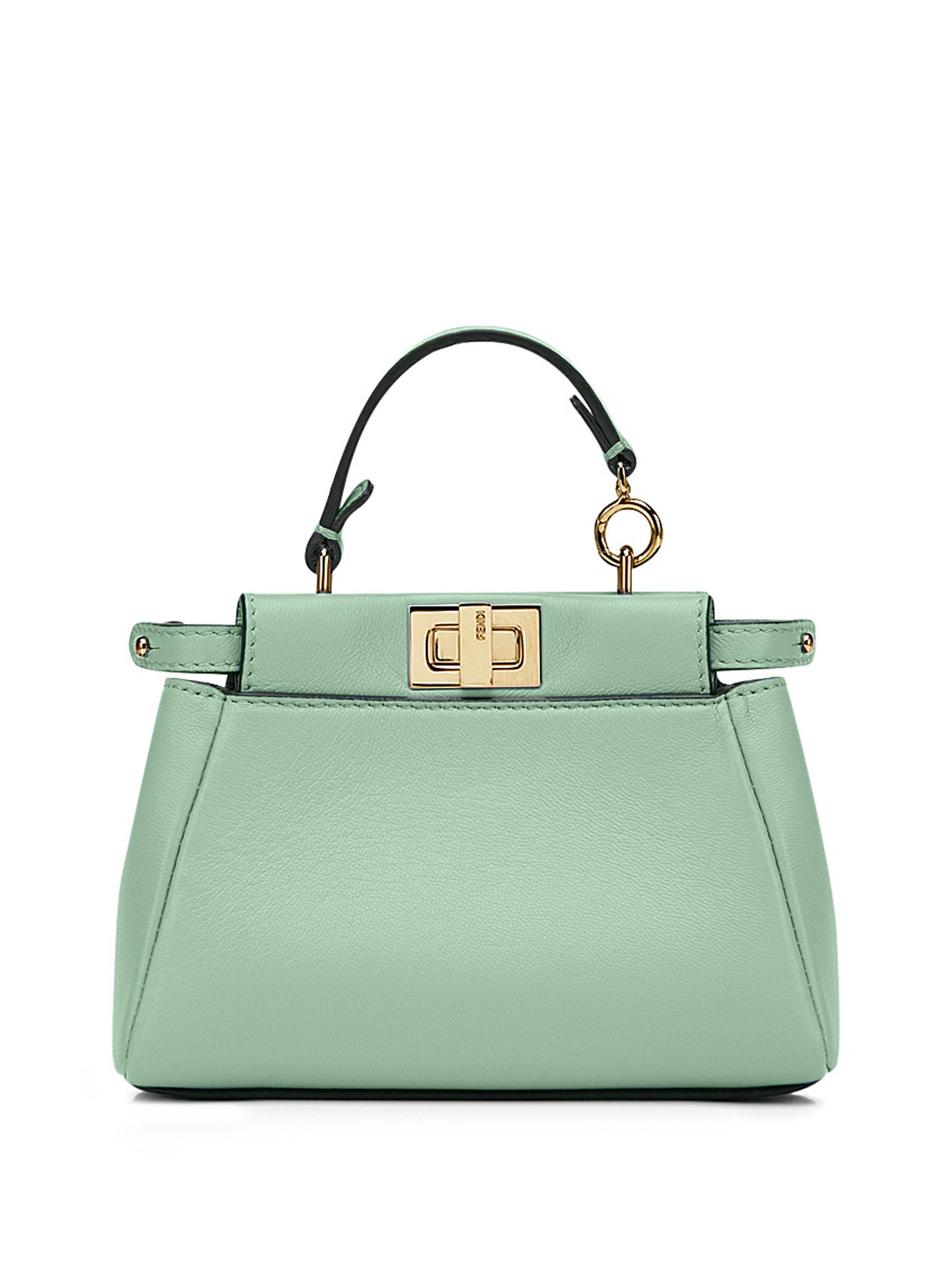 8c134a7cc9a6 fendi online store - Fendi Peekaboo Micro Leather Satchel in Green (lime)
