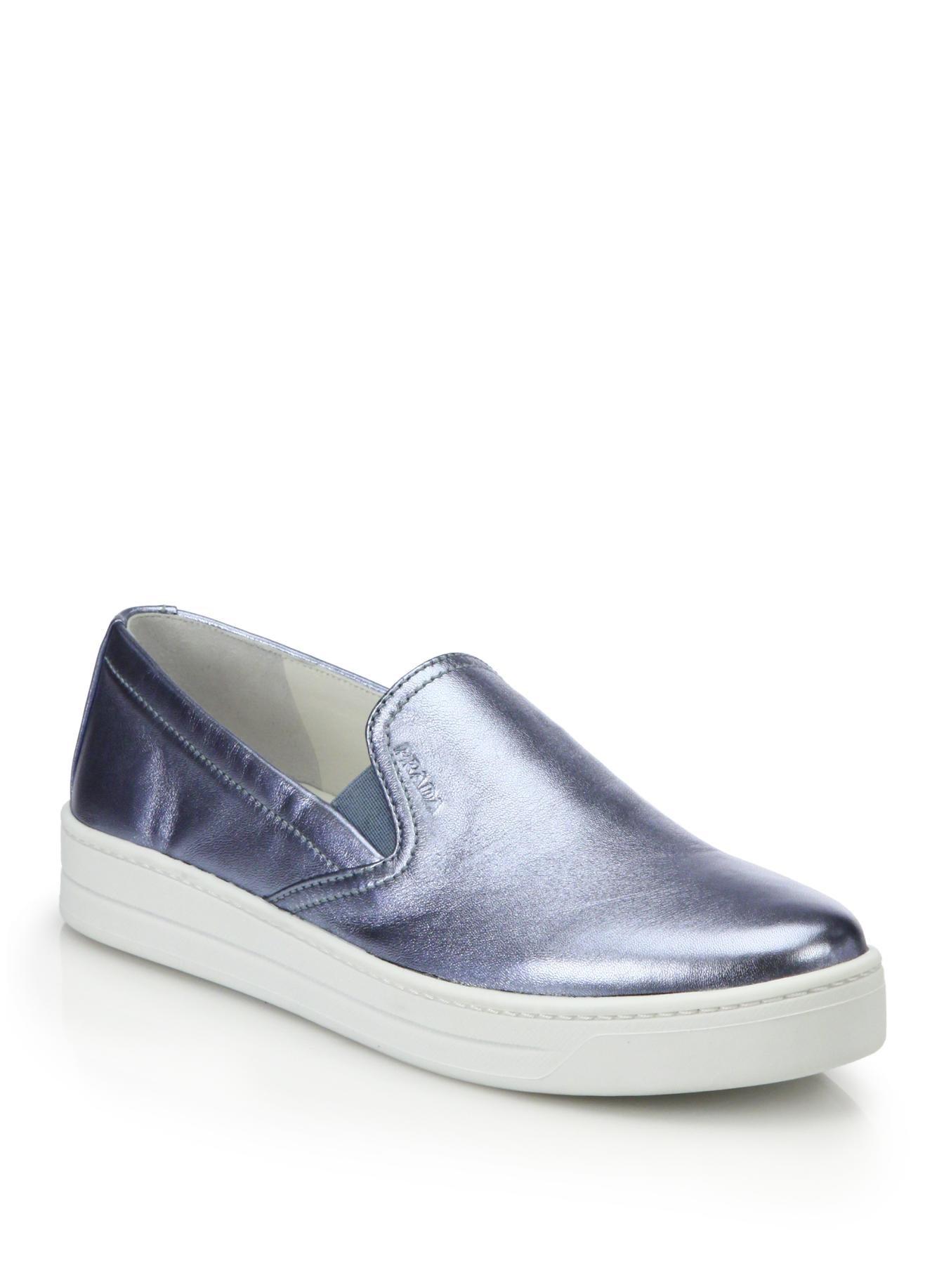 Shiny Blue Prada Shoes