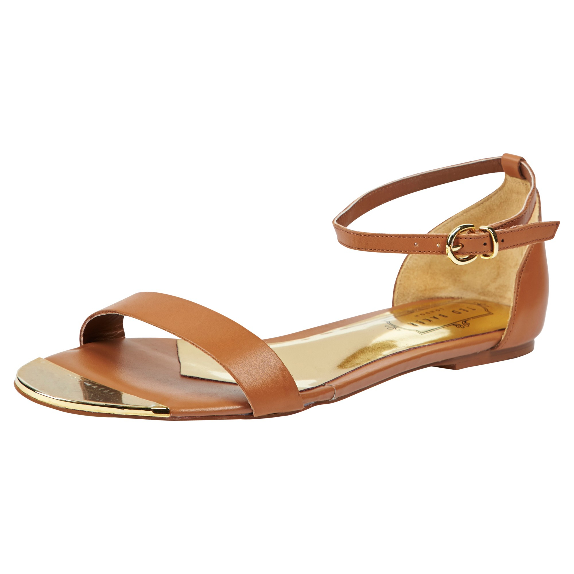 32510f168b3c0 Ted Baker Ballena Leather Sandals in Brown - Lyst