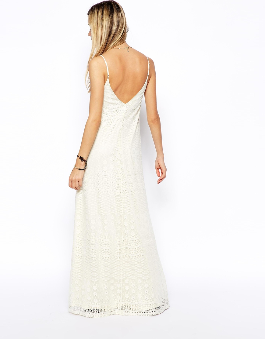 Asos Maxi Dress In Lace in White - Lyst