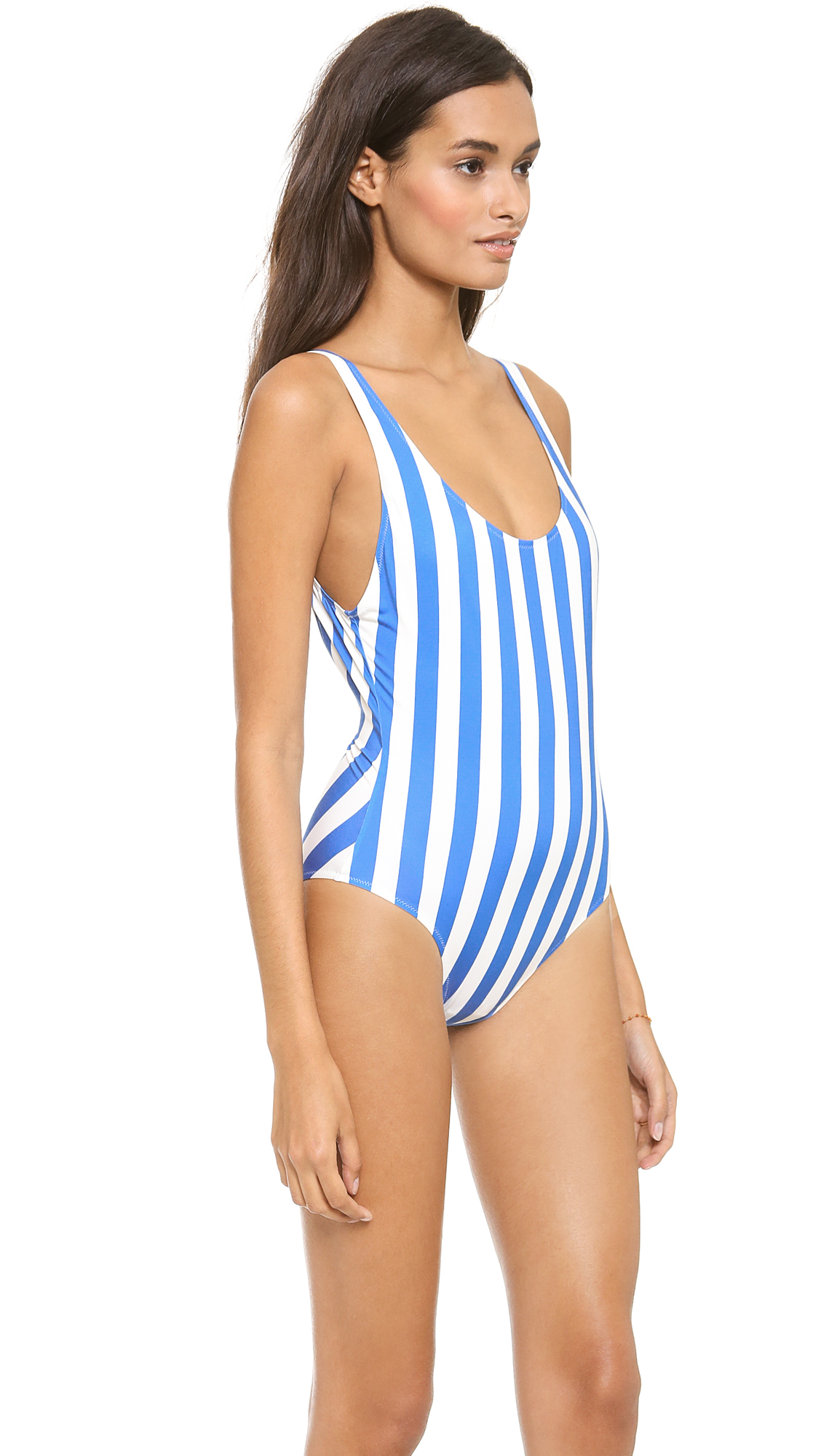 423d50799b103 Lyst - Solid   Striped Anne Marie One Piece Swimsuit Bright Blueoff ...