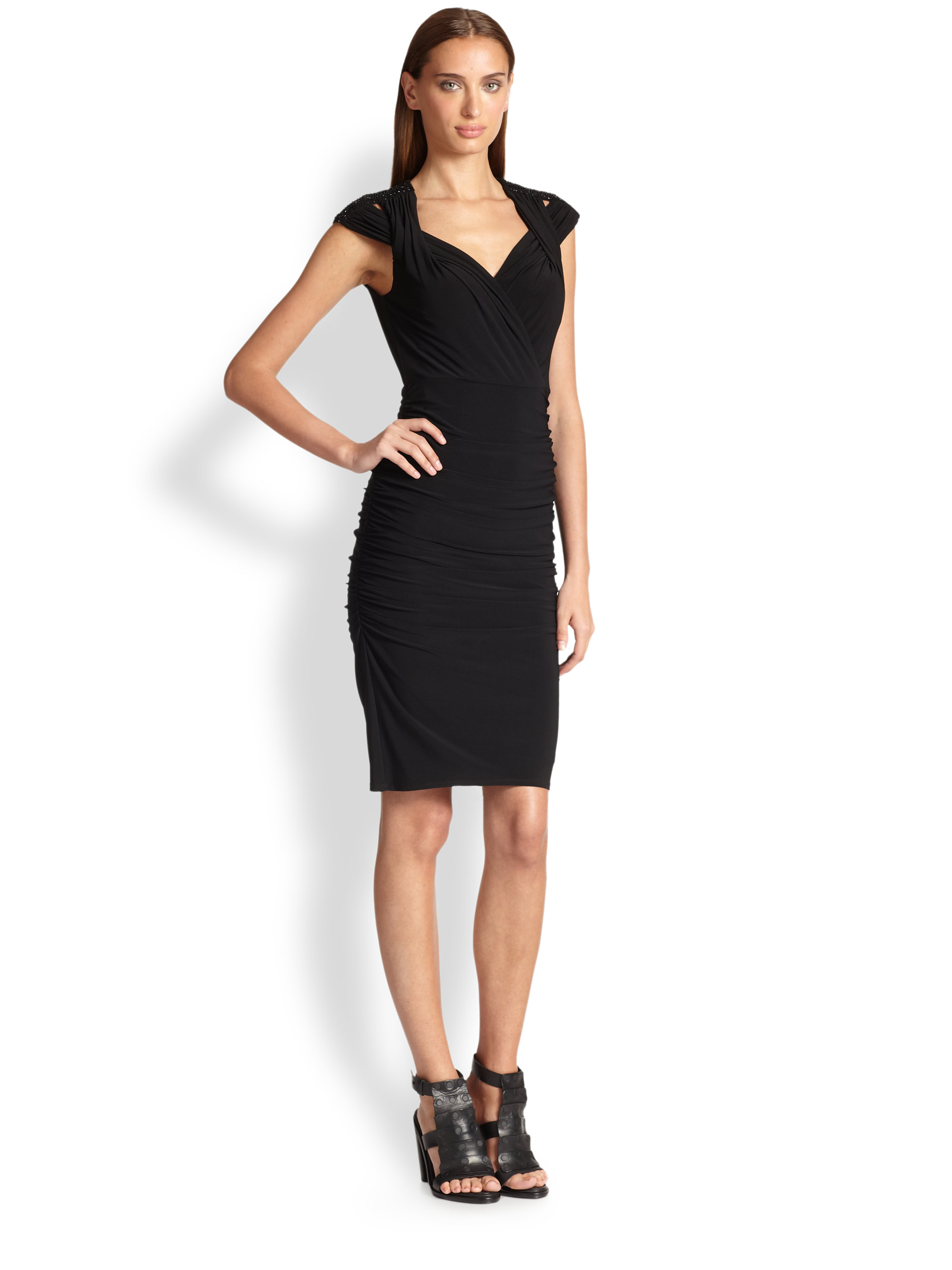 laundry by shelli segal laundry by shelli segal matte jersey twist dress in 12096