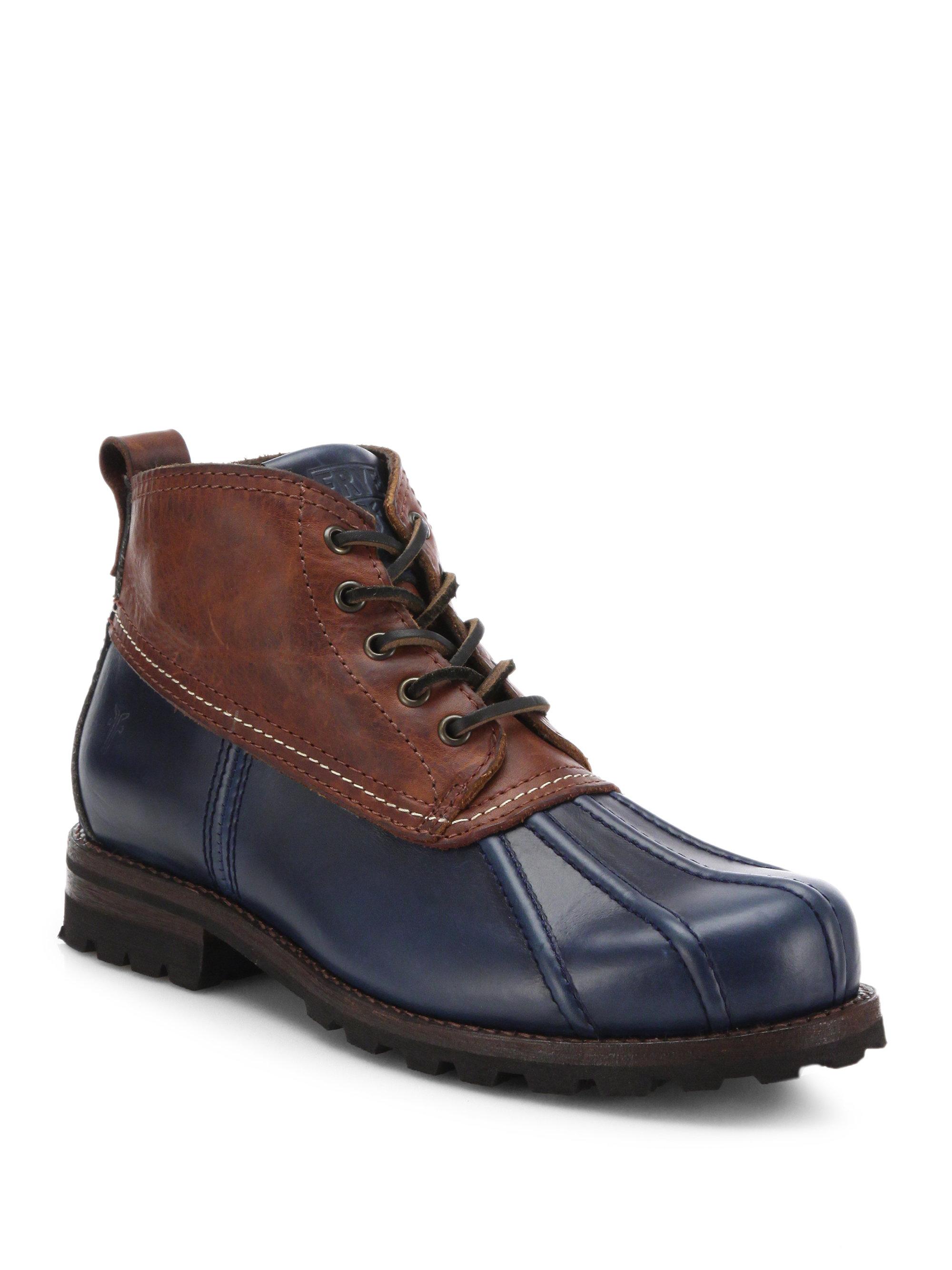 Frye Warren Low Duck Boots In Blue For Men Lyst