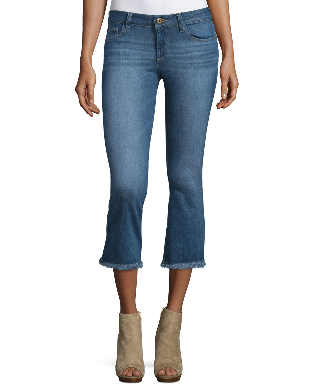 dl1961 lara flare leg cropped jeans in blue fauna lyst. Black Bedroom Furniture Sets. Home Design Ideas