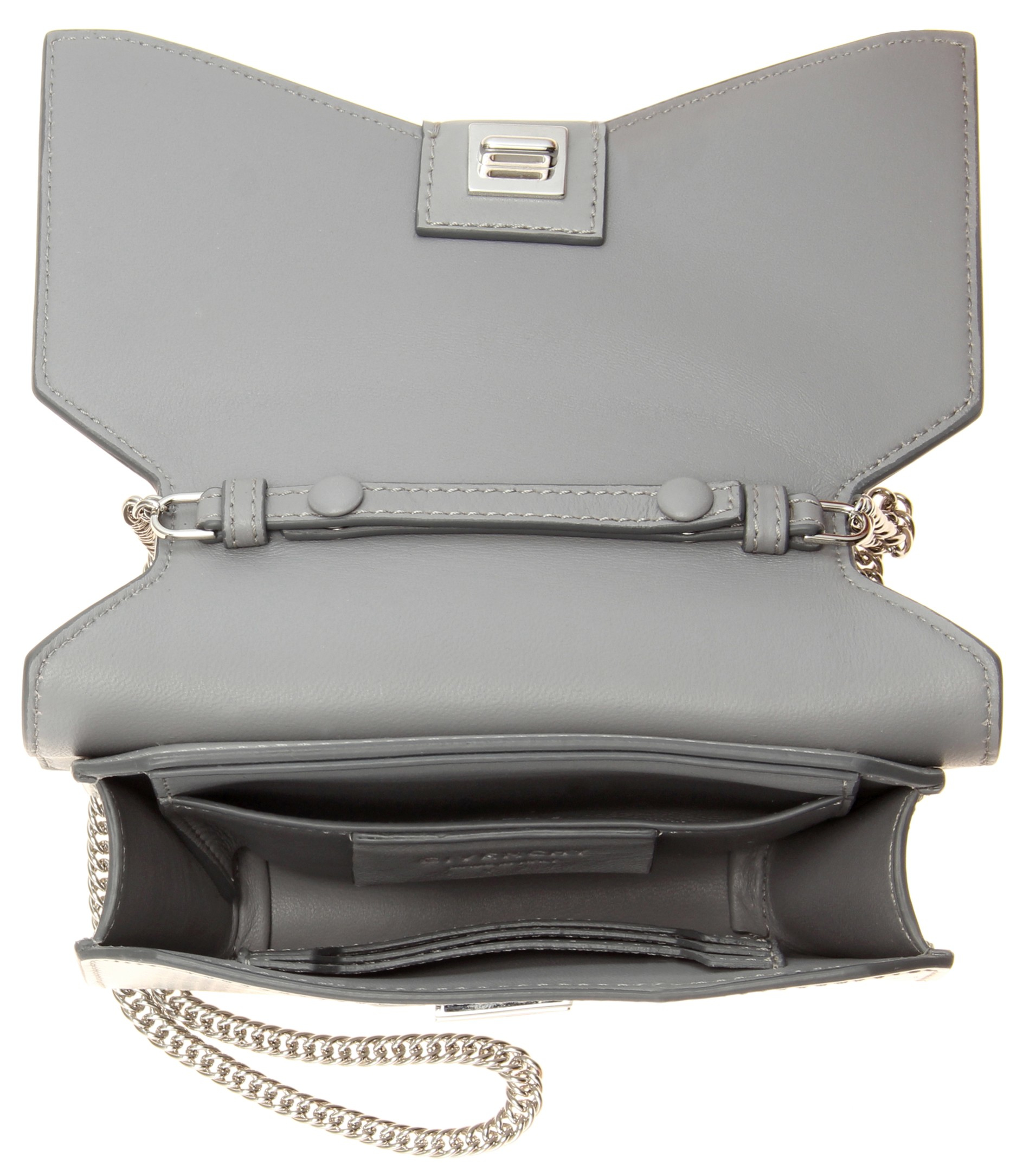 fe2c1cbc587f Lyst - Givenchy Bow Cut Leather Shoulder Bag in Gray