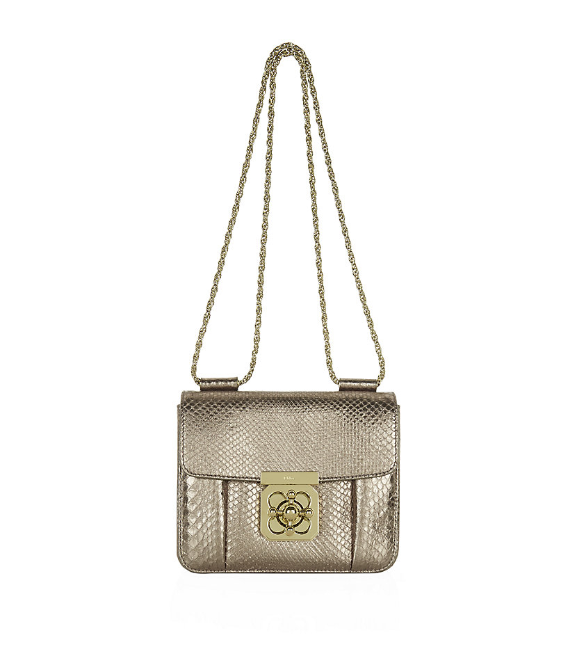 3f0c3434762 Chloé Small Elsie Python Shoulder Bag in Metallic - Lyst