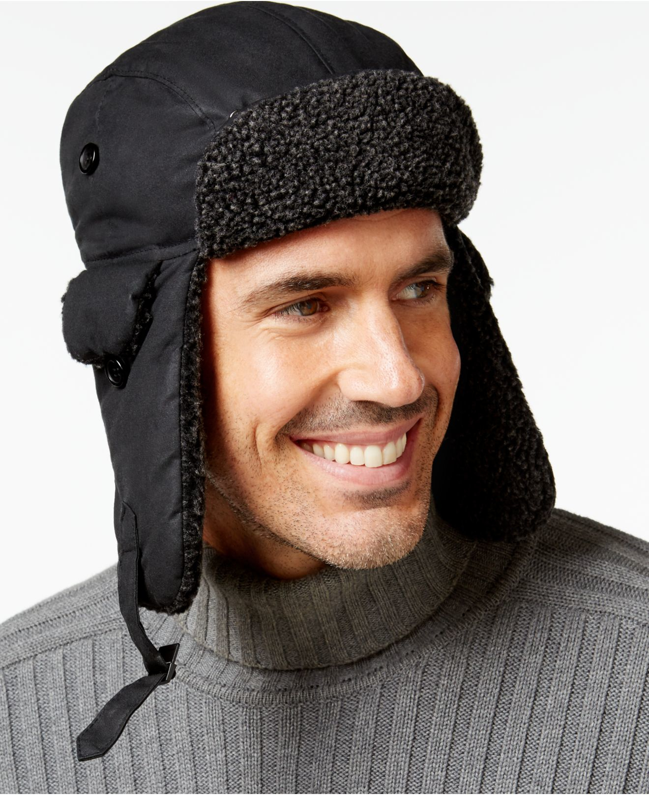 fd3c14d01340 Barbour Fleece-lined Trapper Hat in Black for Men - Lyst