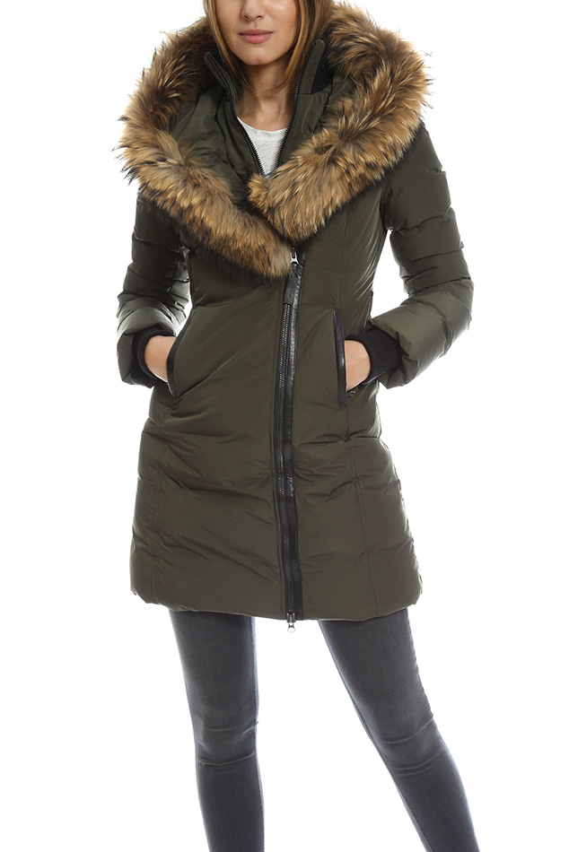 3ed7a6e640be ... denmark mackage kay fur trimmed down parka in green lyst 2588a 89492