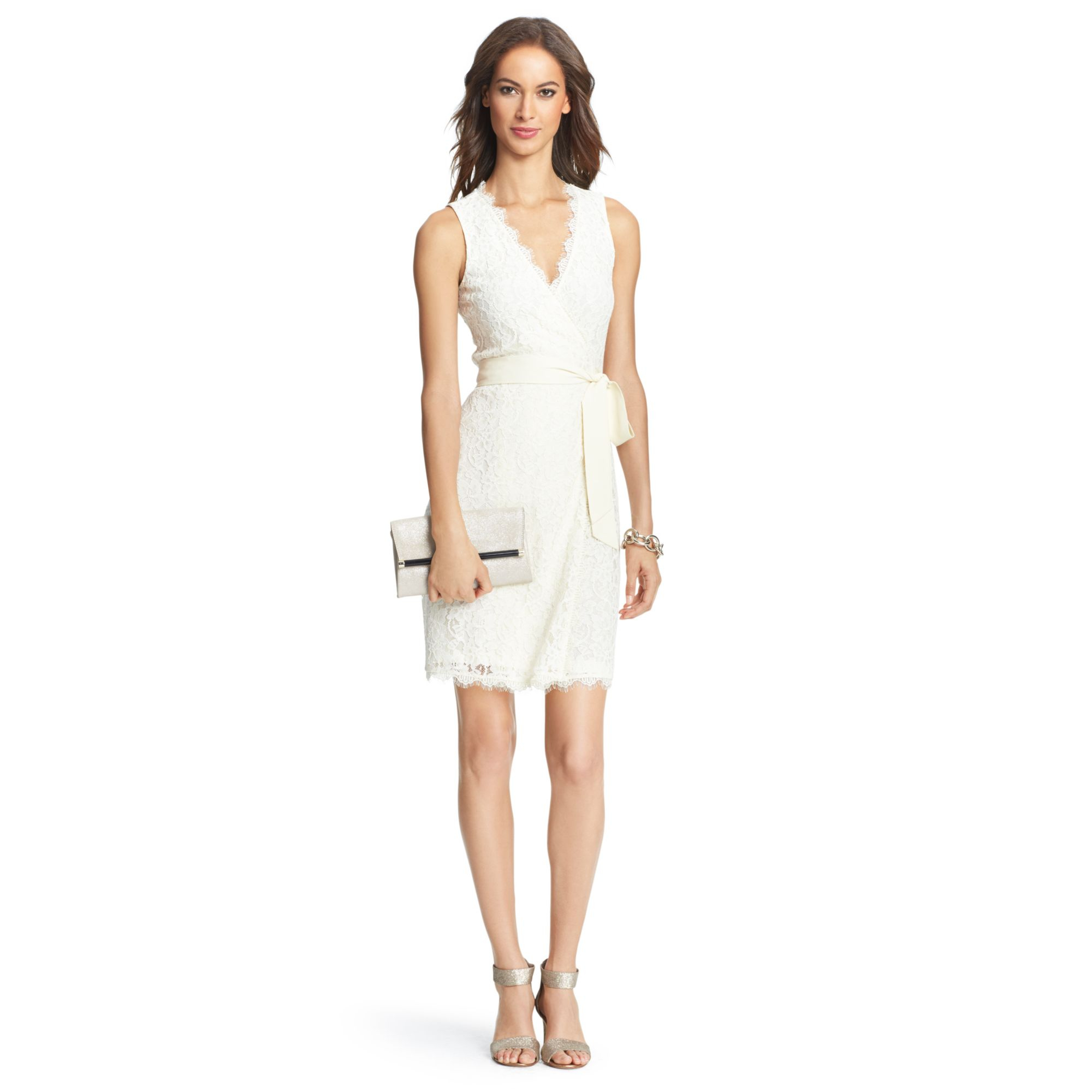 Diane Von Furstenberg Dvf Julianna Two Lace Wrap Dress In