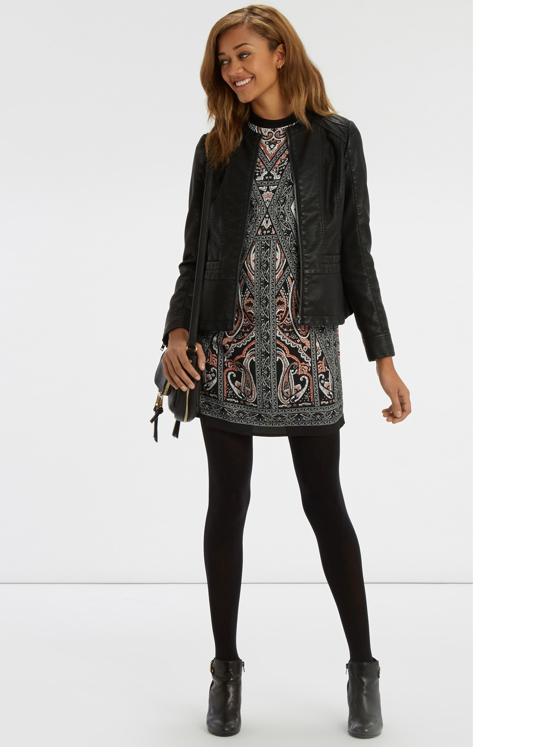oasis textured scarf shift dress lyst