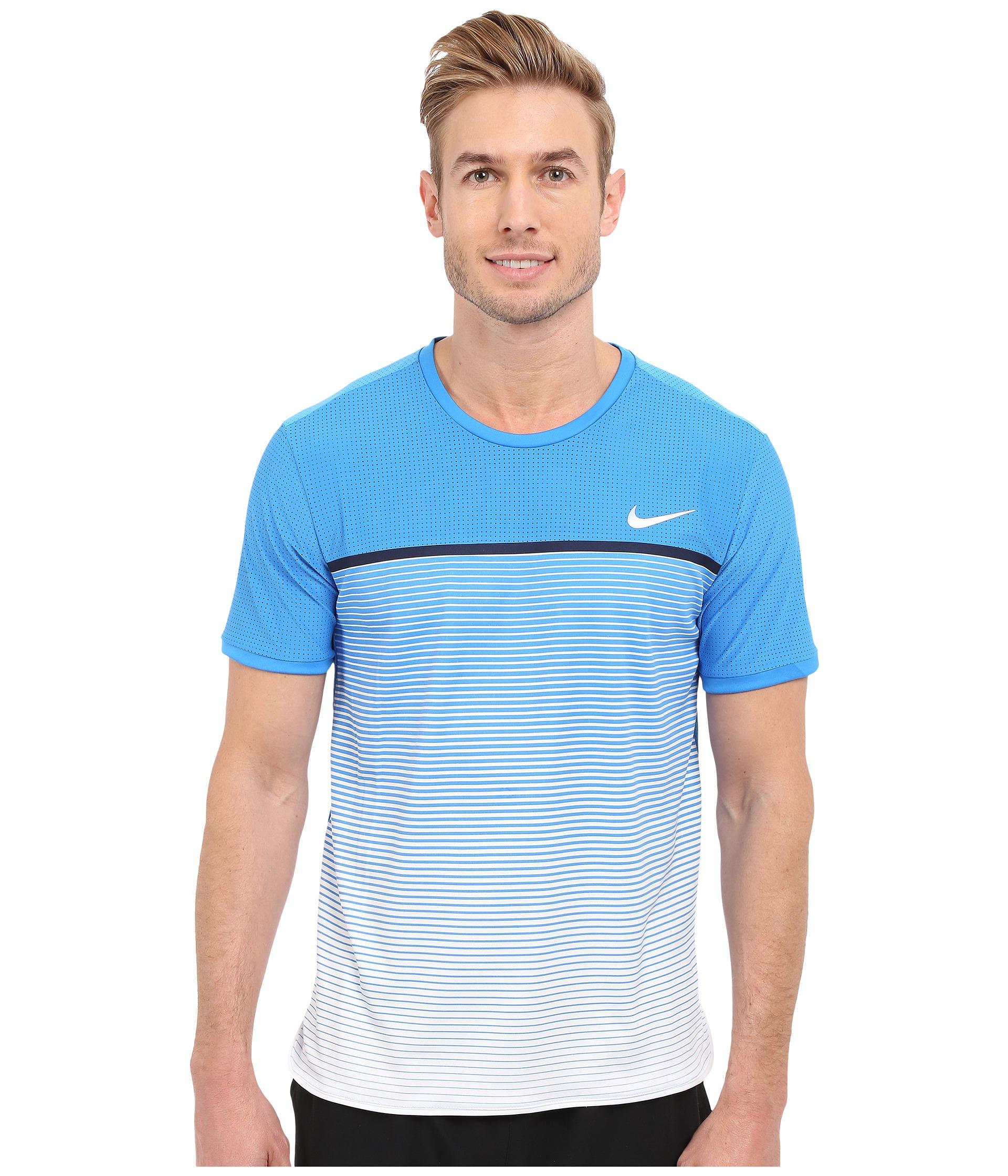 3a975c67 Nike Challenger Premier Crew in Blue for Men - Lyst
