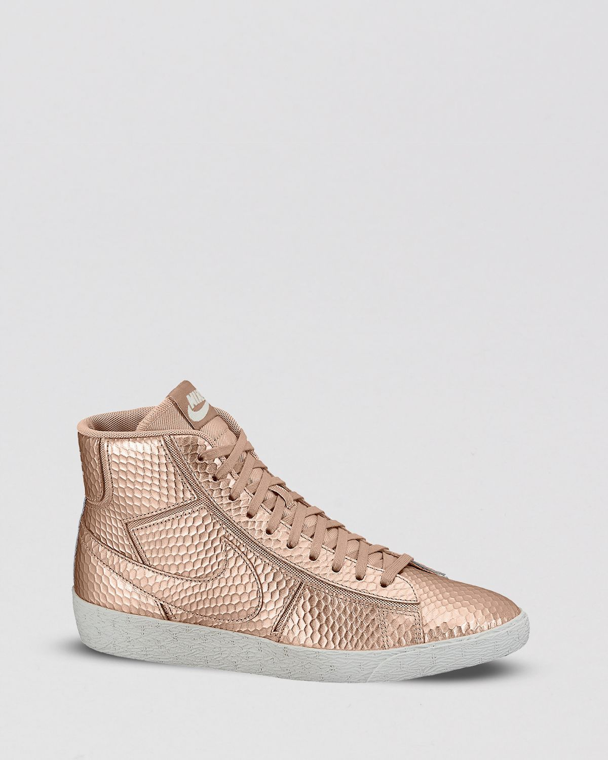 nike blazer mid cut out premium sneakers-gold
