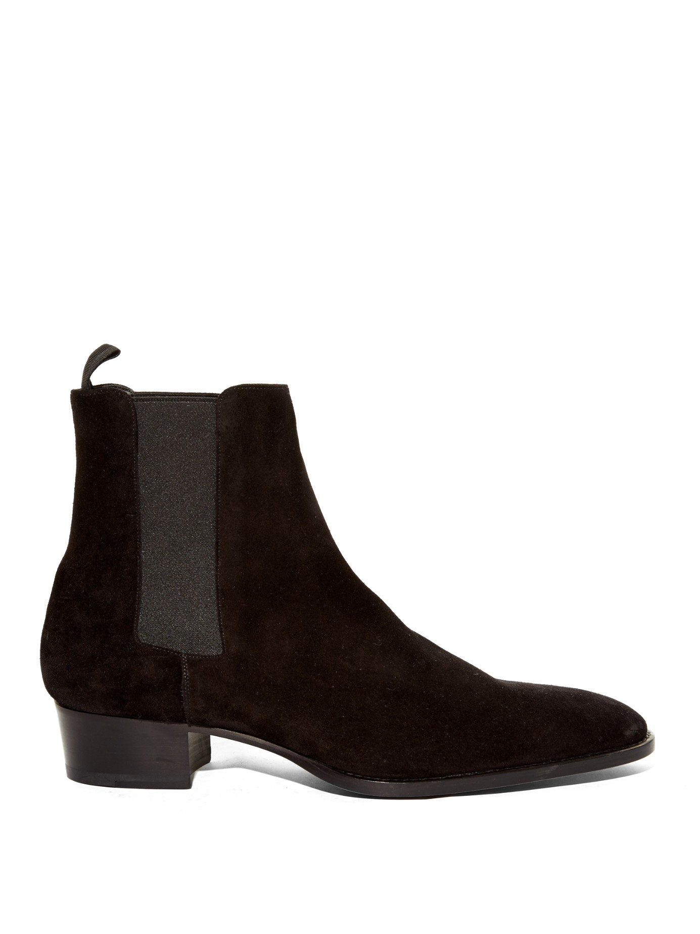 laurent suede chelsea boots in black for lyst