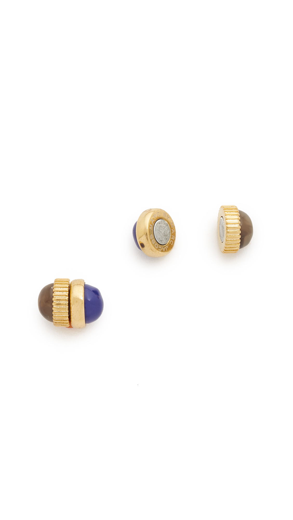 lyst marc by marc cabochon magnetic stud earrings lapis