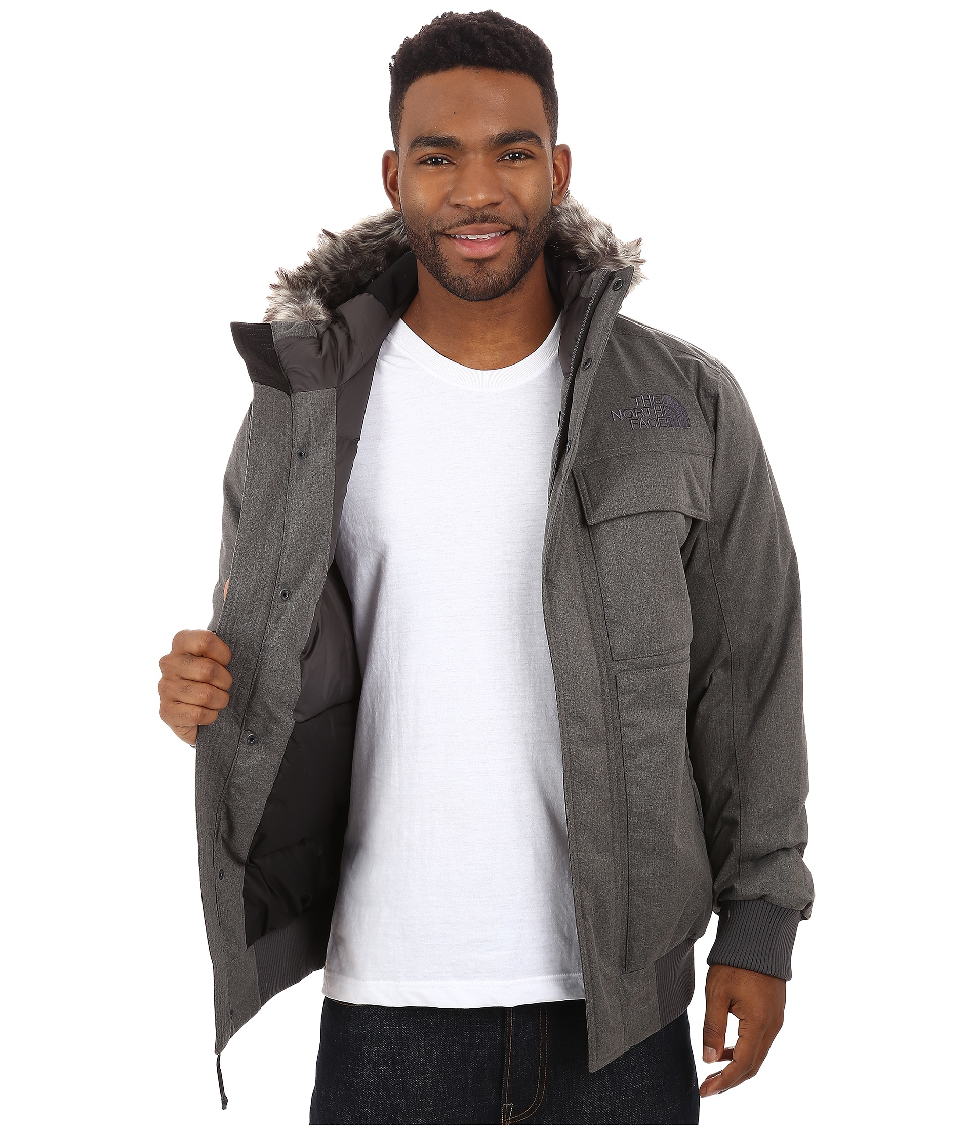 ab0bf2af1e238 ... brown field heather mens clothing coats outerwearthe c4b85 e5a85  denmark lyst the north face gotham jacket ii in gray for men 42a2f 11b24 ...
