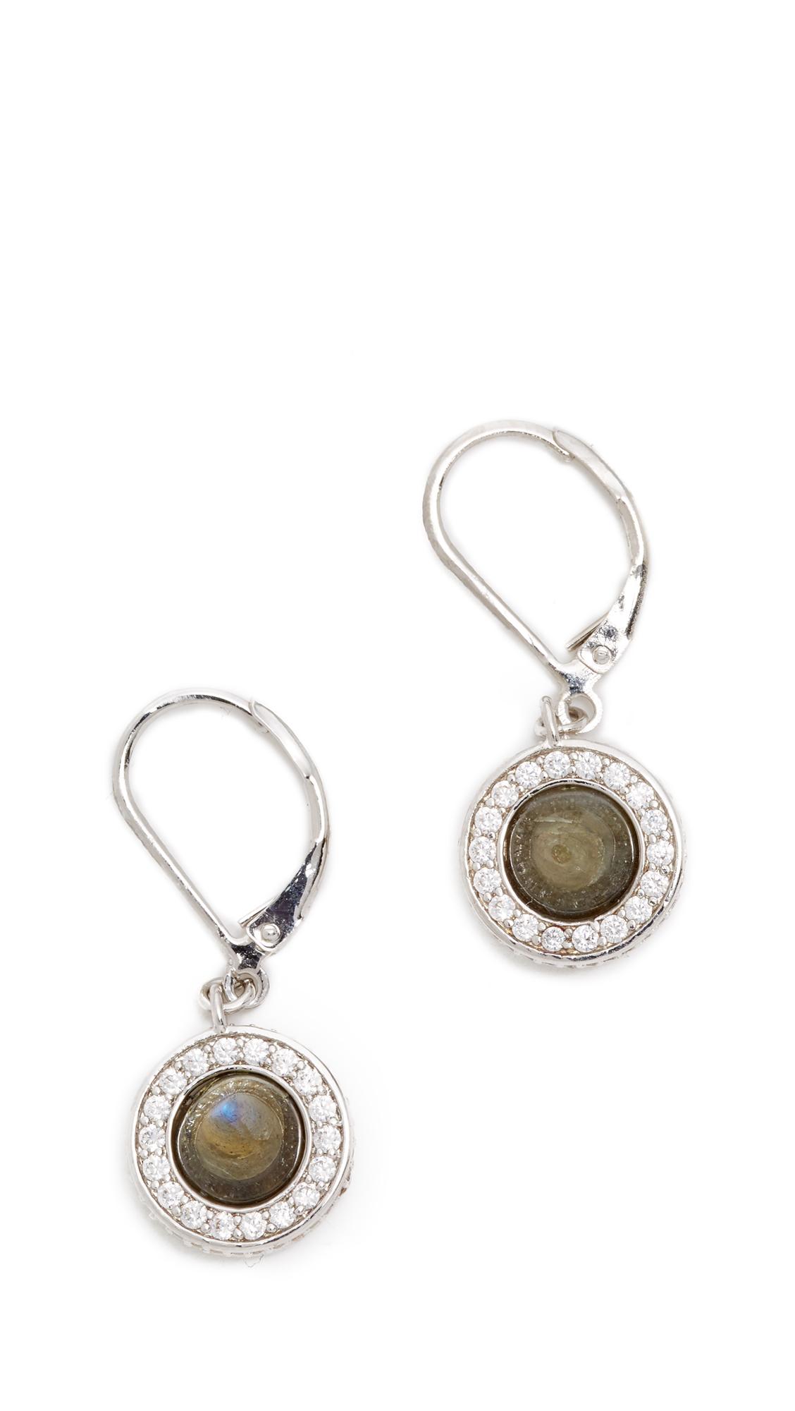 eddie borgo cone drop earrings in white lyst