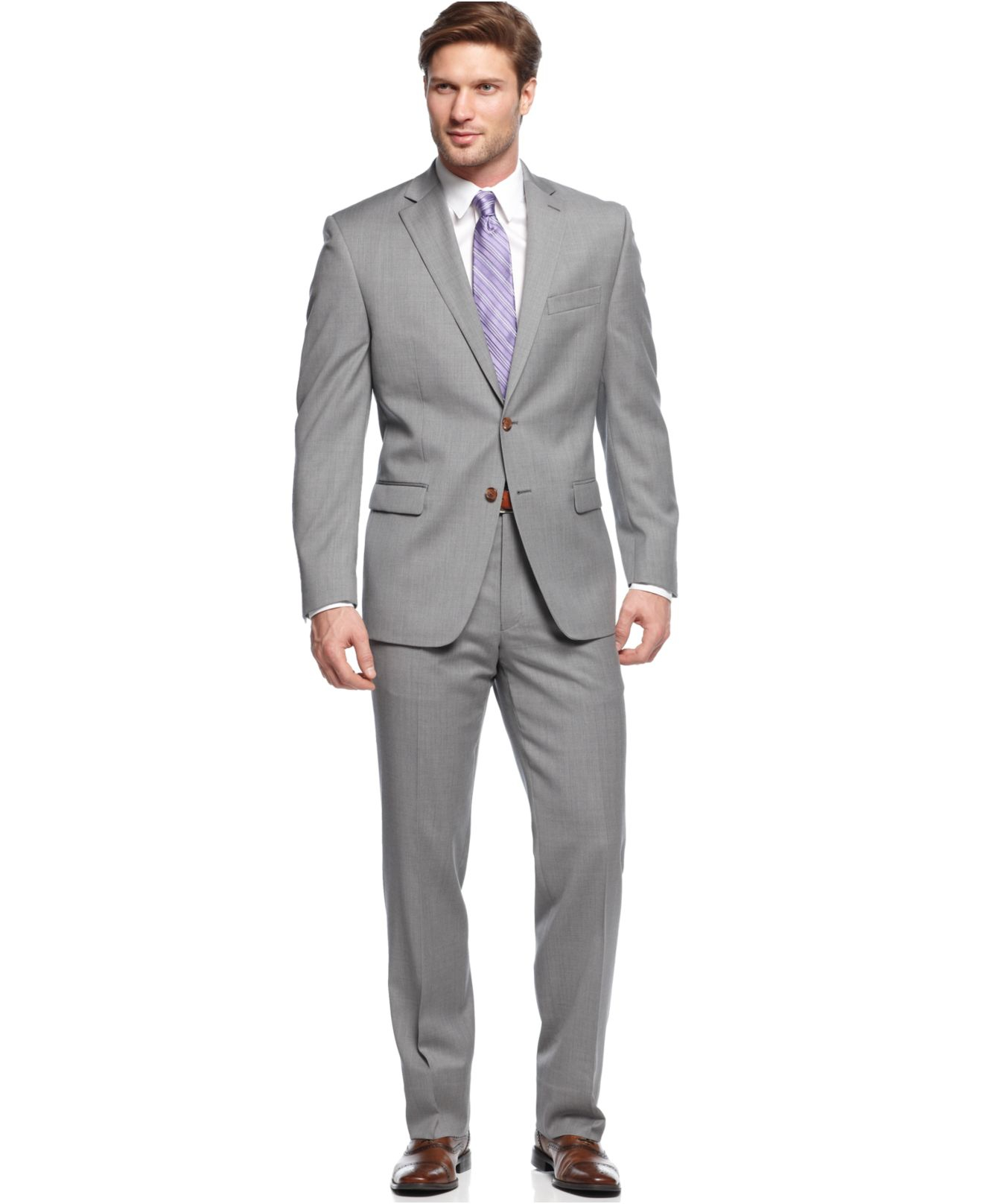 Lauren by ralph lauren Suits Light Grey Solid in Gray for Men | Lyst