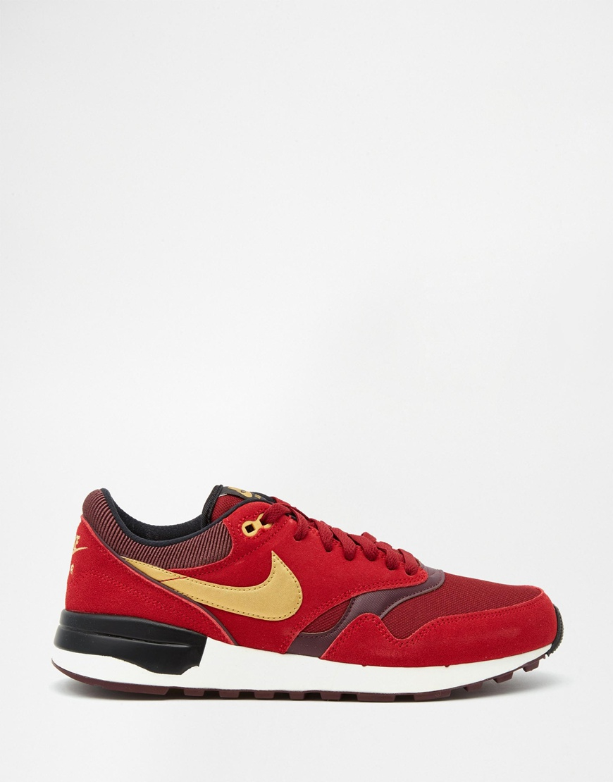 nike air odyssey trainers 652989 602 in red for men lyst. Black Bedroom Furniture Sets. Home Design Ideas