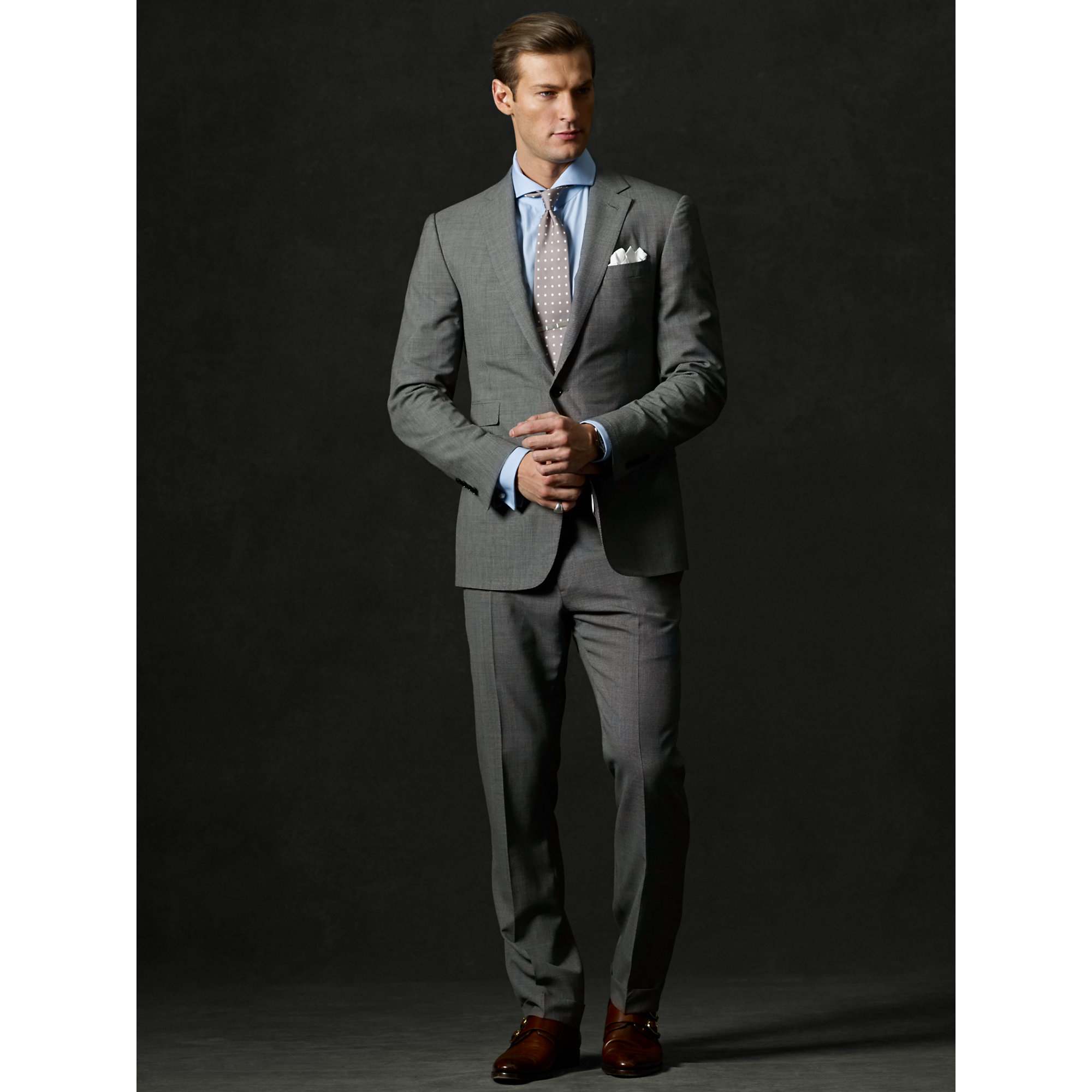Ralph Lauren Purple Label Custom-Fit Deco Suit In Black
