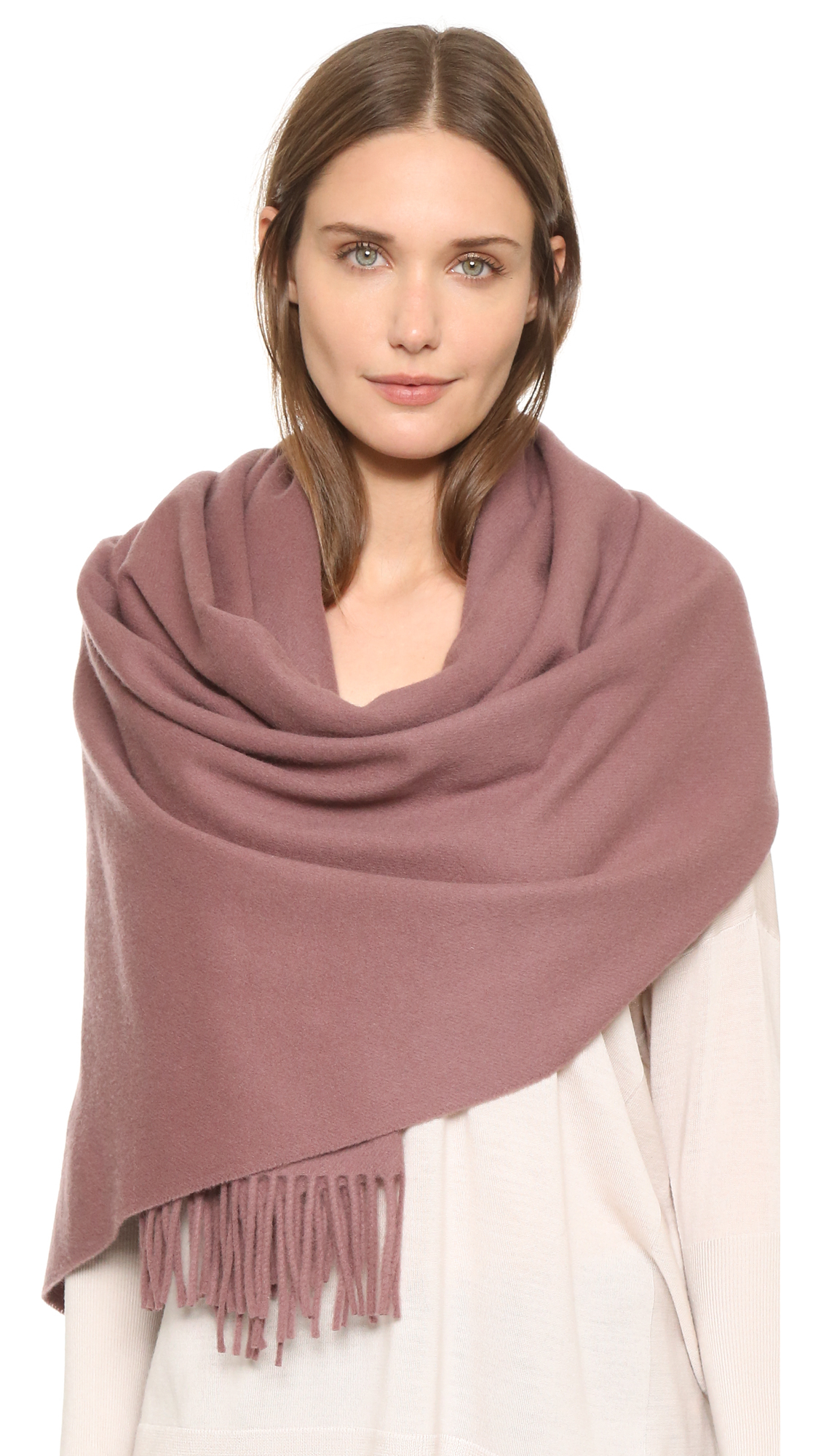 acne studios canada scarf celosia orange in brown lyst