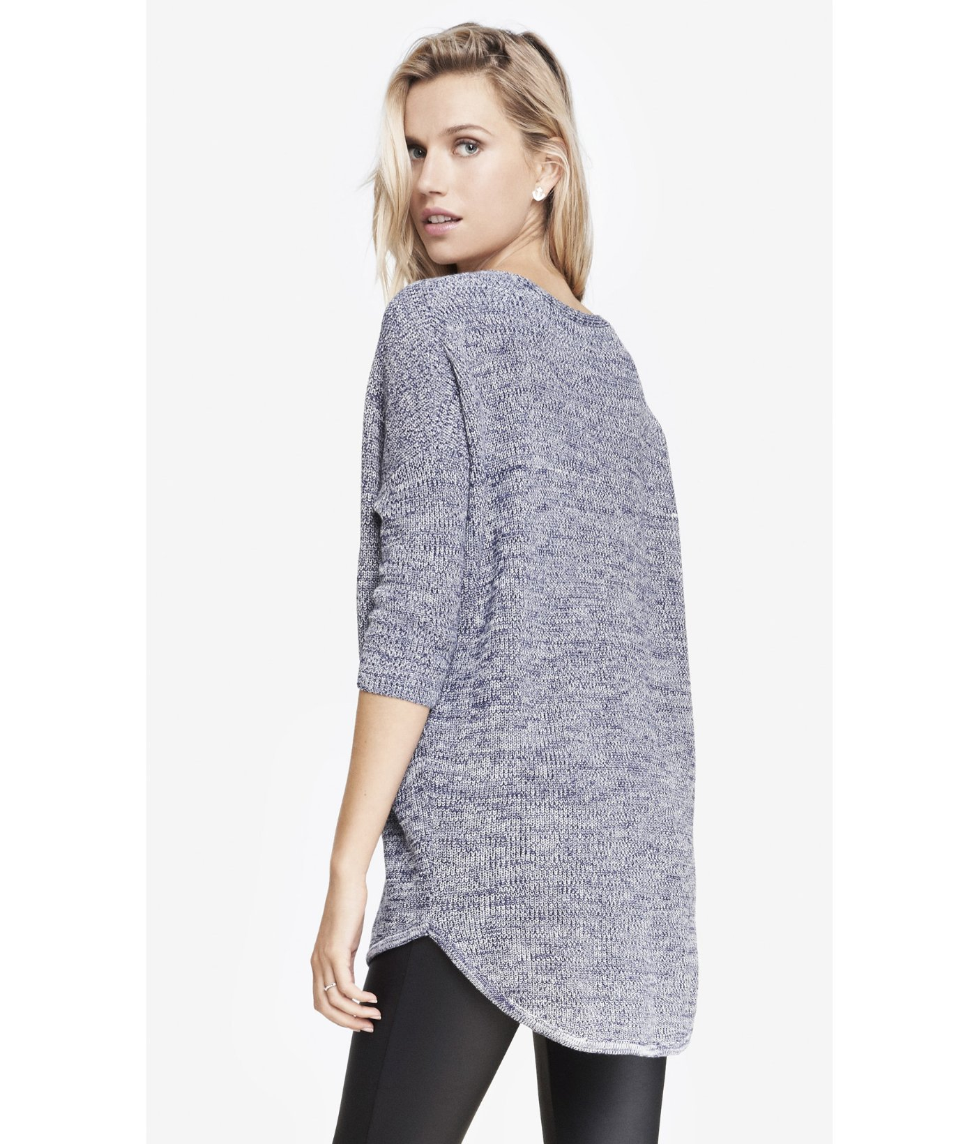 Express Marled London Sweater in Blue | Lyst