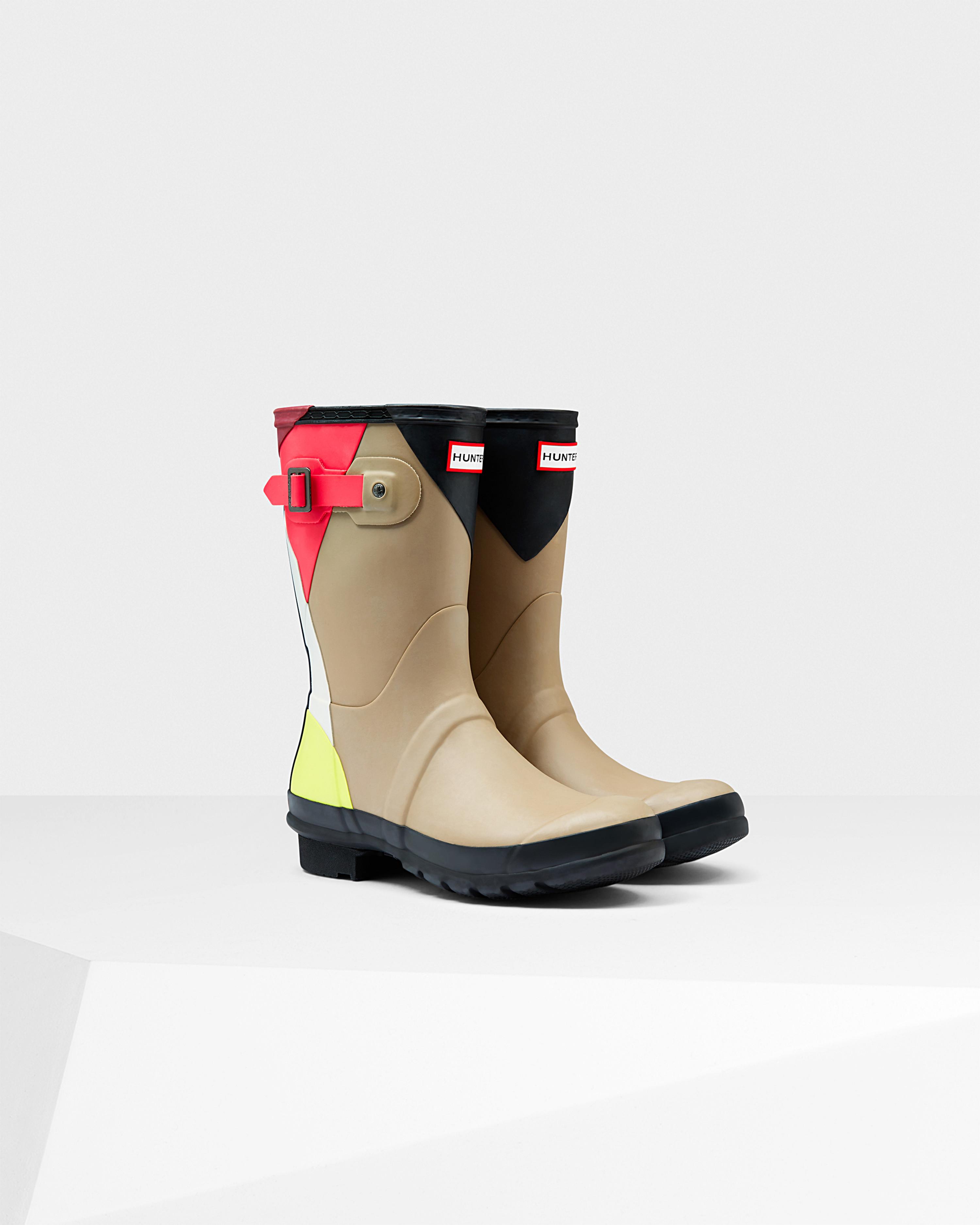 3aadcce1f5f8 Lyst - HUNTER Women s Original Short Dazzle Rain Boots in Natural
