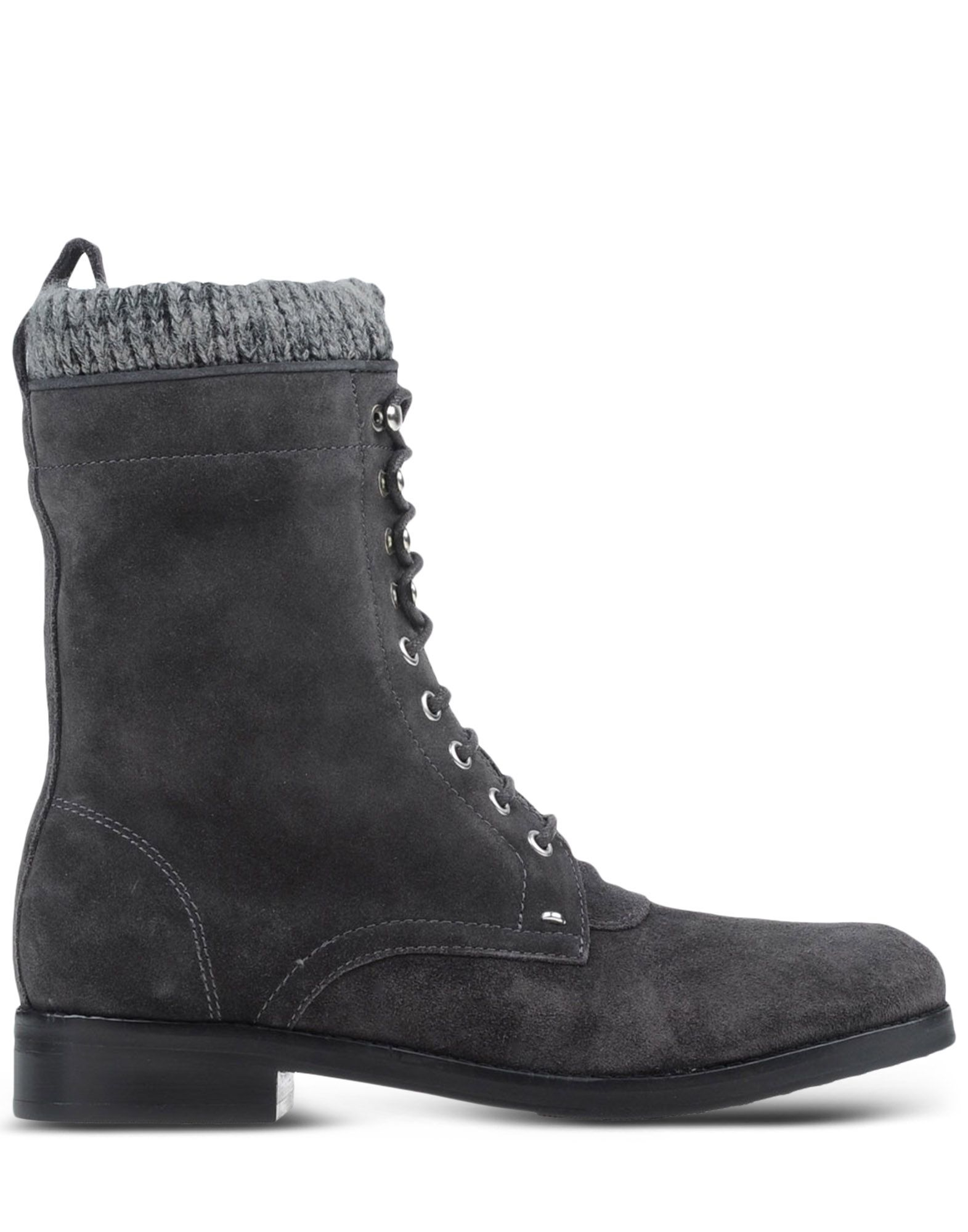 belle by sigerson morrison lace up suede ankle boots in gray lead lyst. Black Bedroom Furniture Sets. Home Design Ideas
