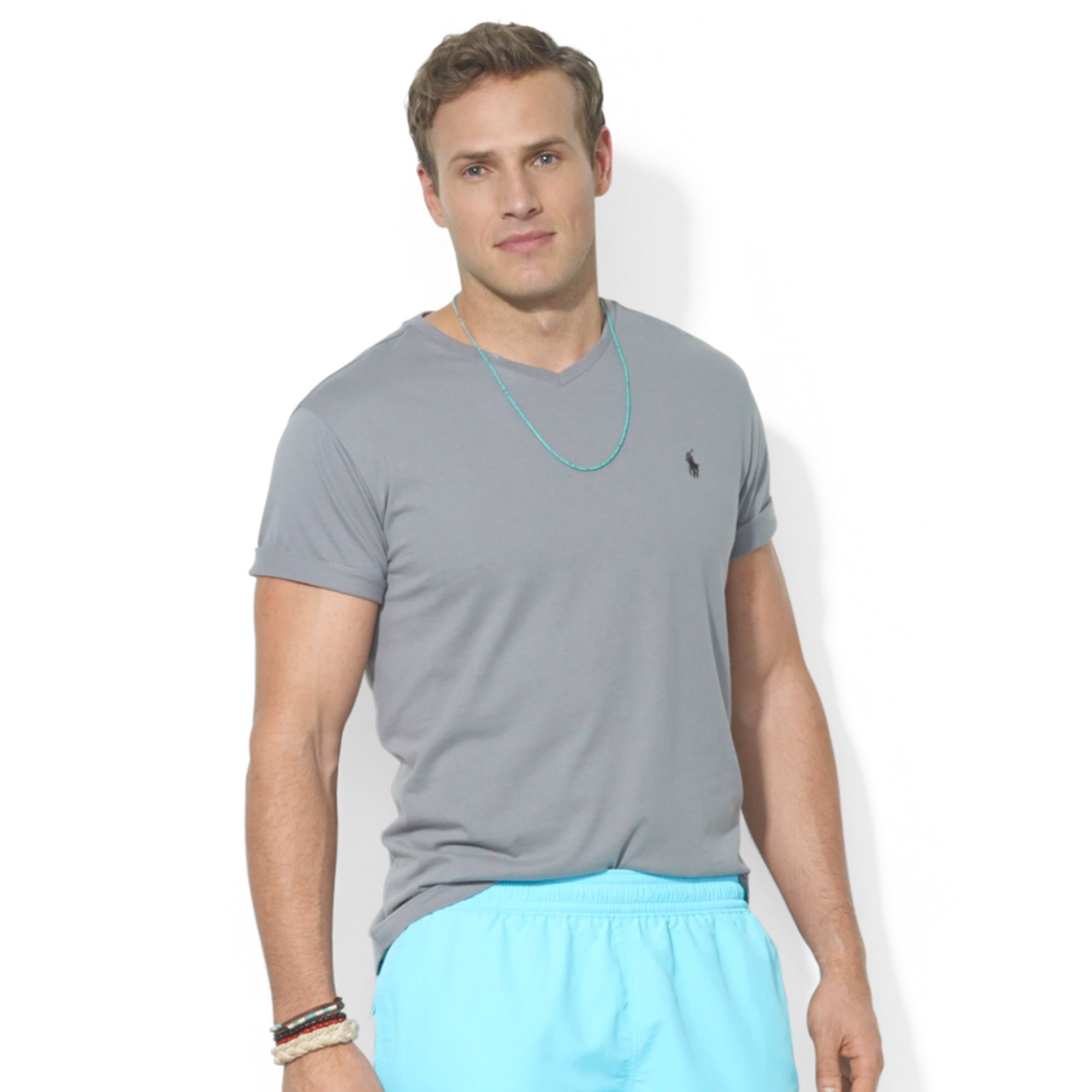Marein Ralph Lauren Cotton V Neck Tee