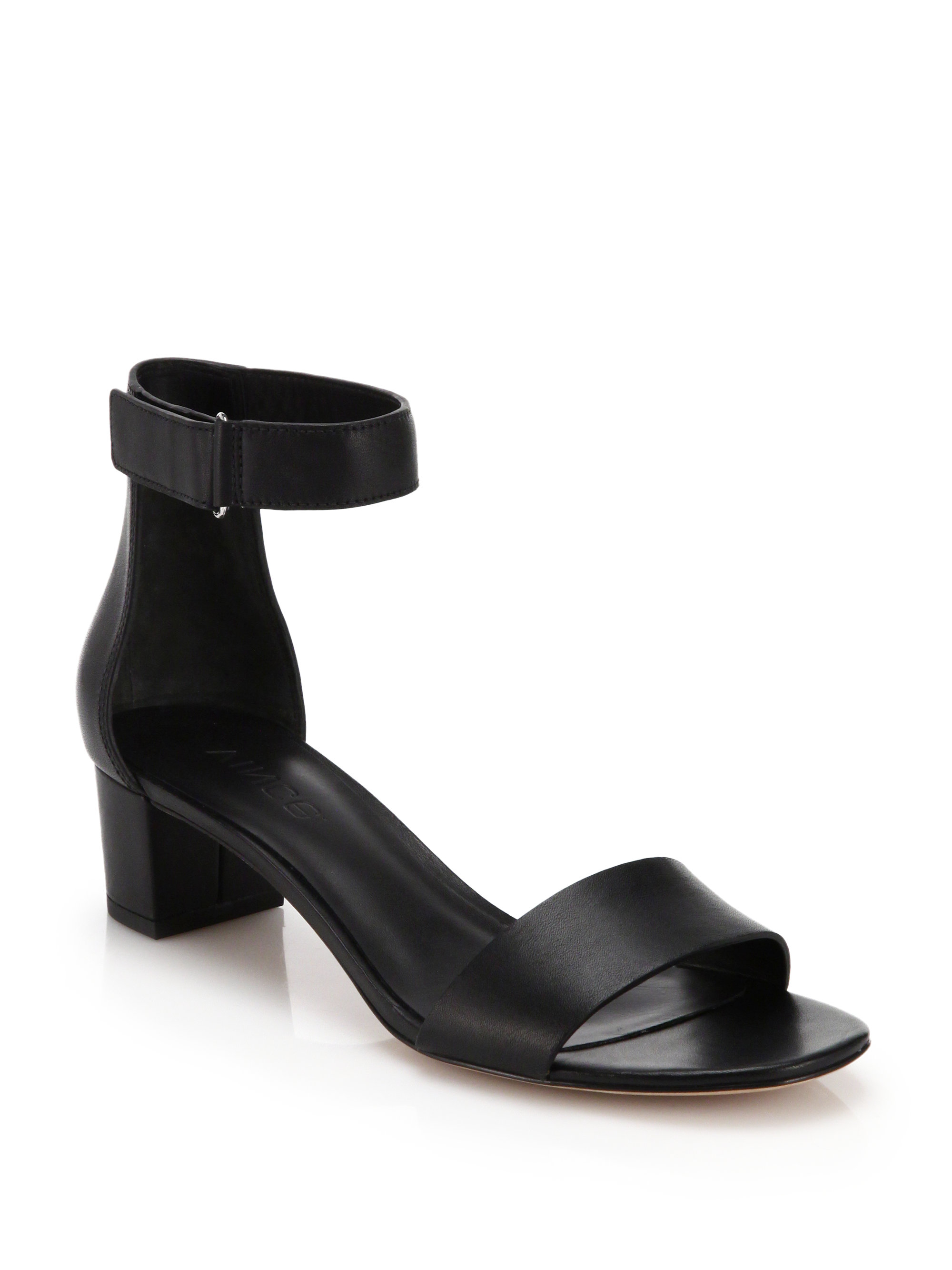 58c715a26cf Lyst - Vince Rita Leather City Sandals in Black