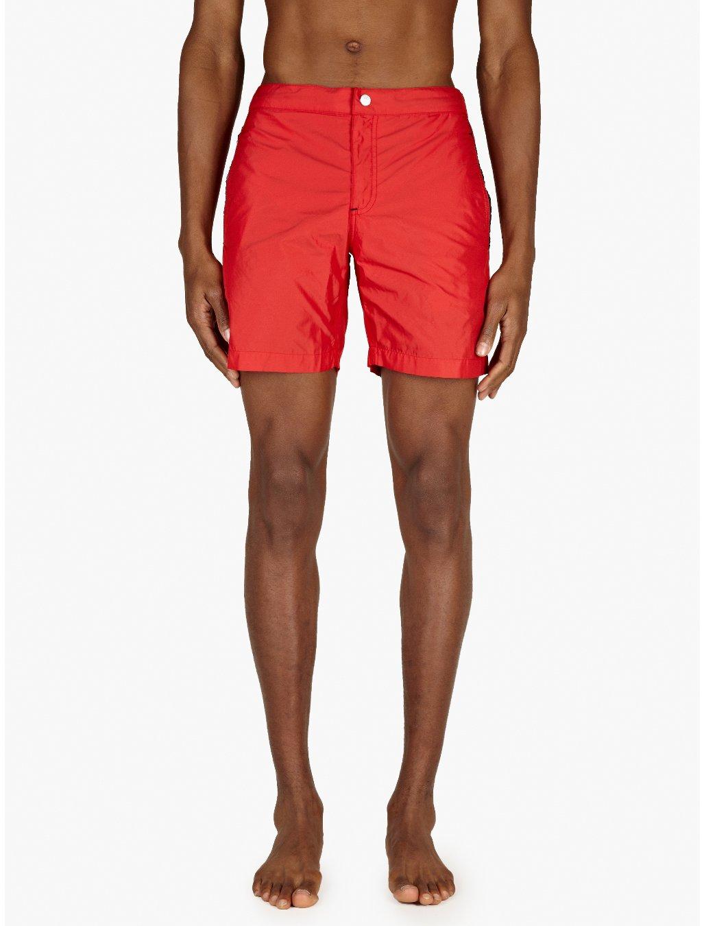 Etiquette Mens Red Ariston Swim Shorts in Red for Men | Lyst