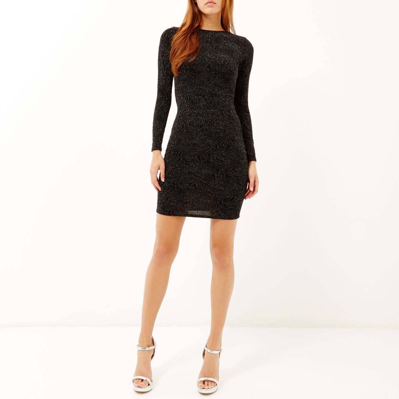 4f1be509 black glitter dress river island – Little Black Dress | Black Lace ...