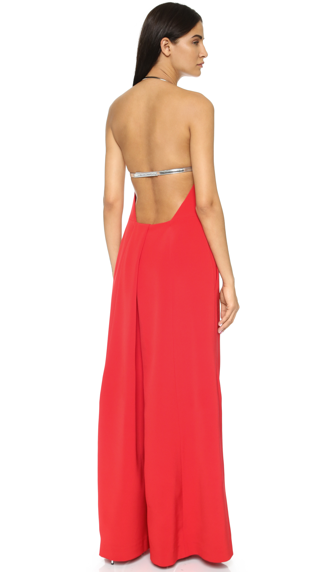 Kaufman franco Sleeveless Jumpsuit in Red | Lyst