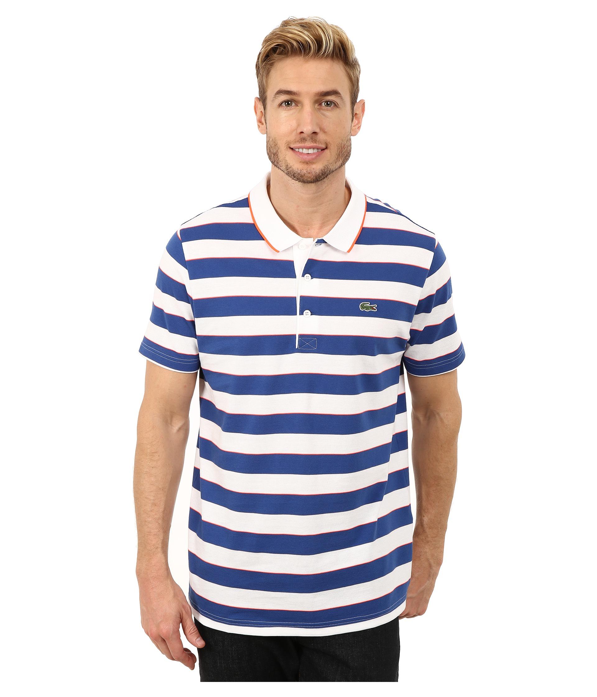 3d7422eaf6 Lacoste Sport Short Sleeve Superlight Stripe Polo in Blue for Men - Lyst
