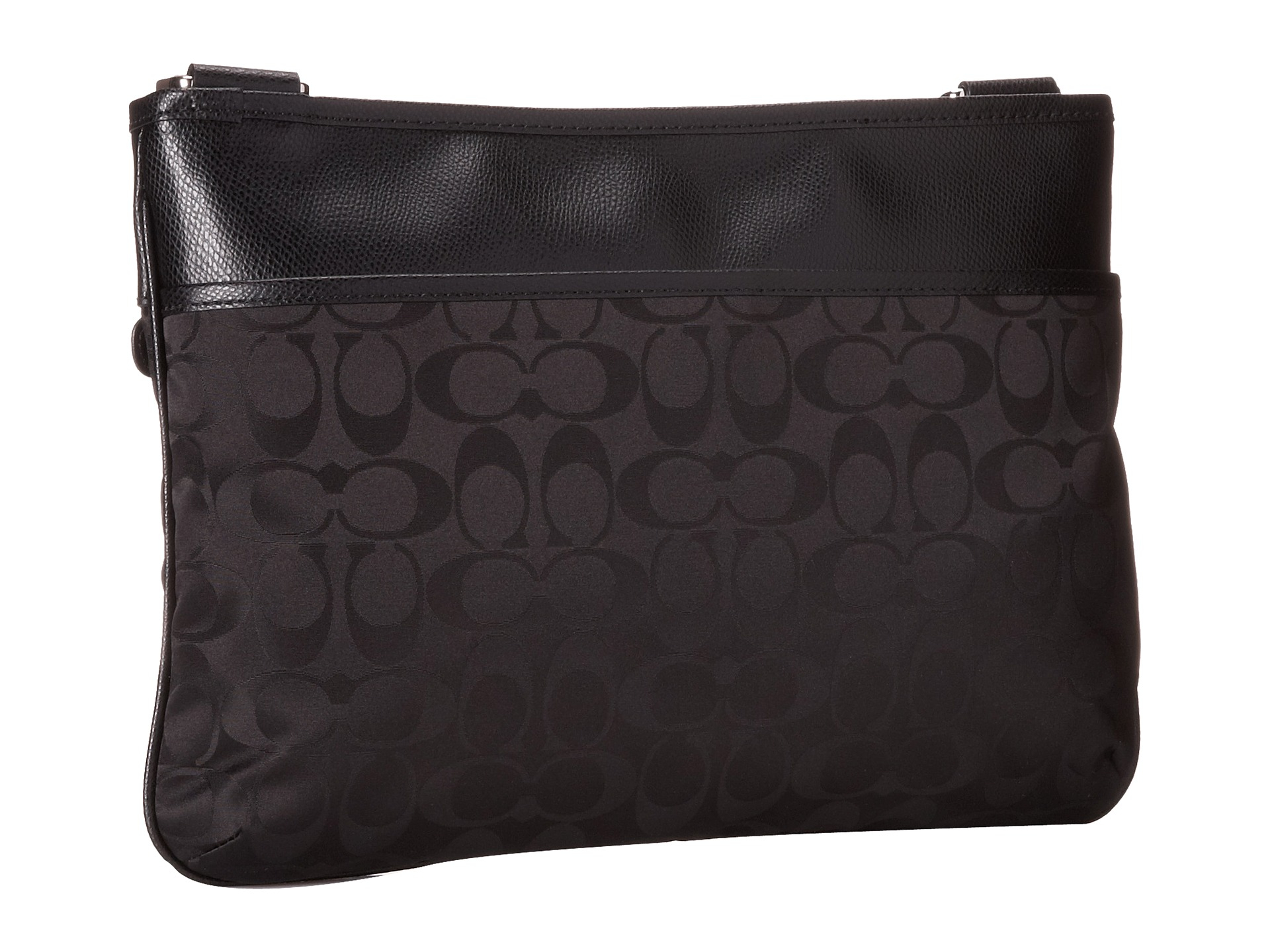 ... promo code lyst coach signature nylon spencer crossbody in black afec8  e905f 47e6a5bd7c7bd