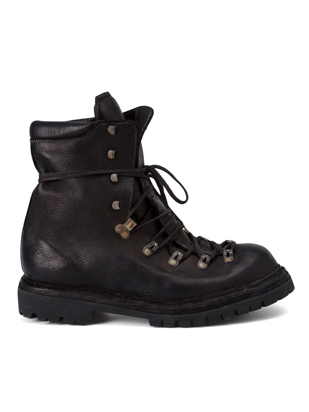 Lyst Guidi Distressed Hiking Boots In Black For Men