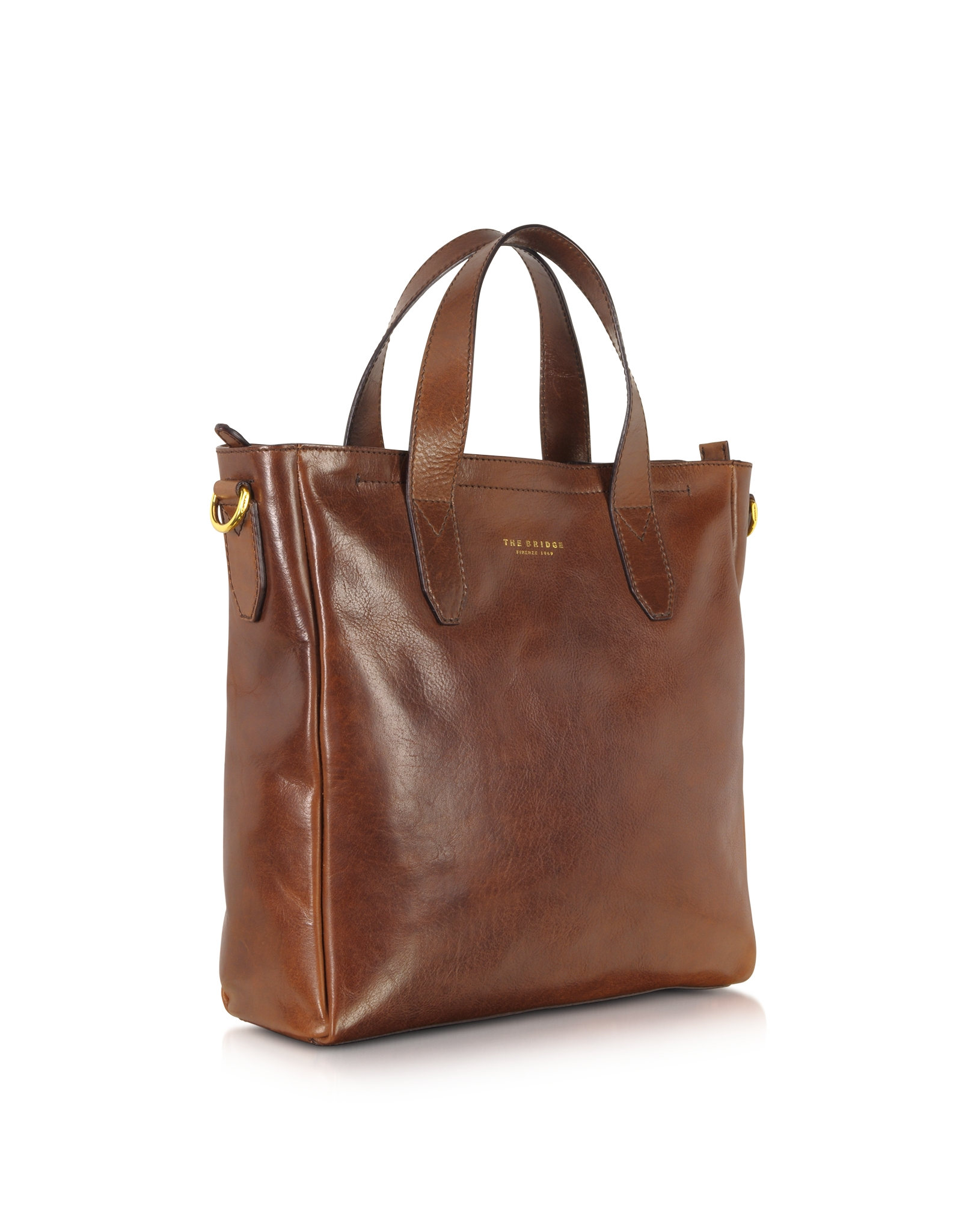 The bridge Large Dark Brown Leather Tote in Brown for Men | Lyst