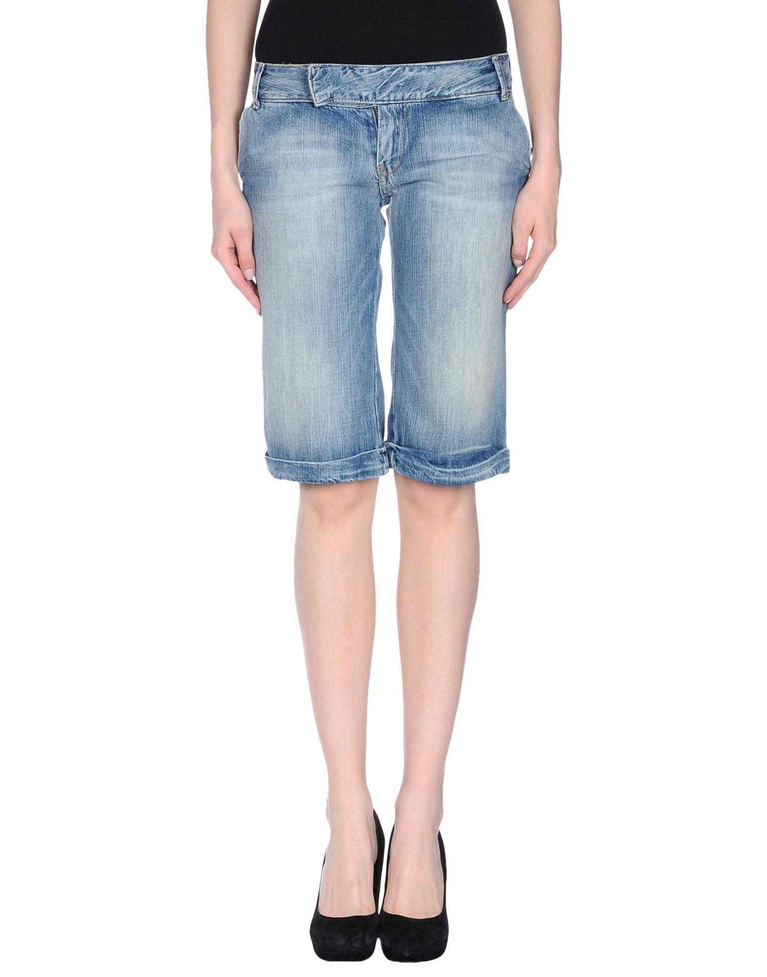 lyst pepe jeans denim bermudas in blue. Black Bedroom Furniture Sets. Home Design Ideas