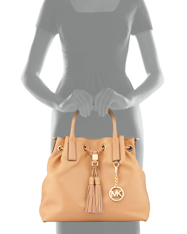 lyst michael michael kors camden large drawstring satchel bag in rh lyst com