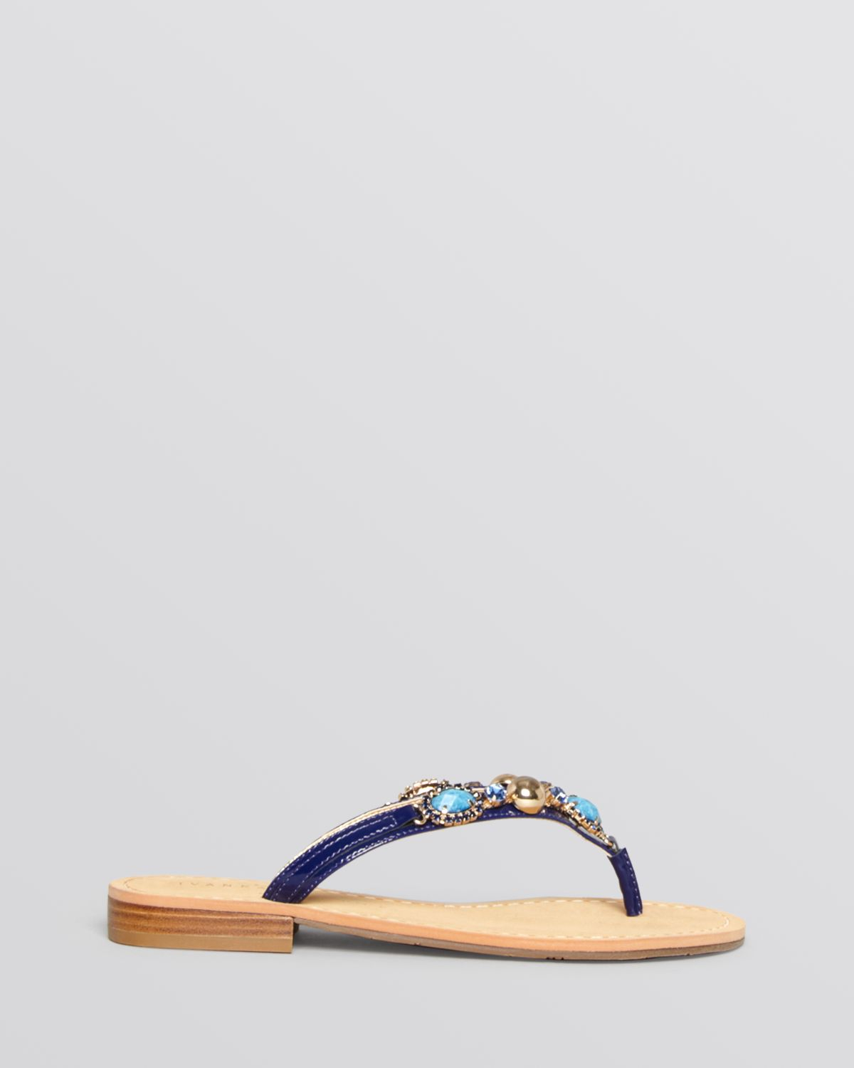 e53623752 Ivanka Trump Flat Thong Sandals Jeweled in Blue - Lyst