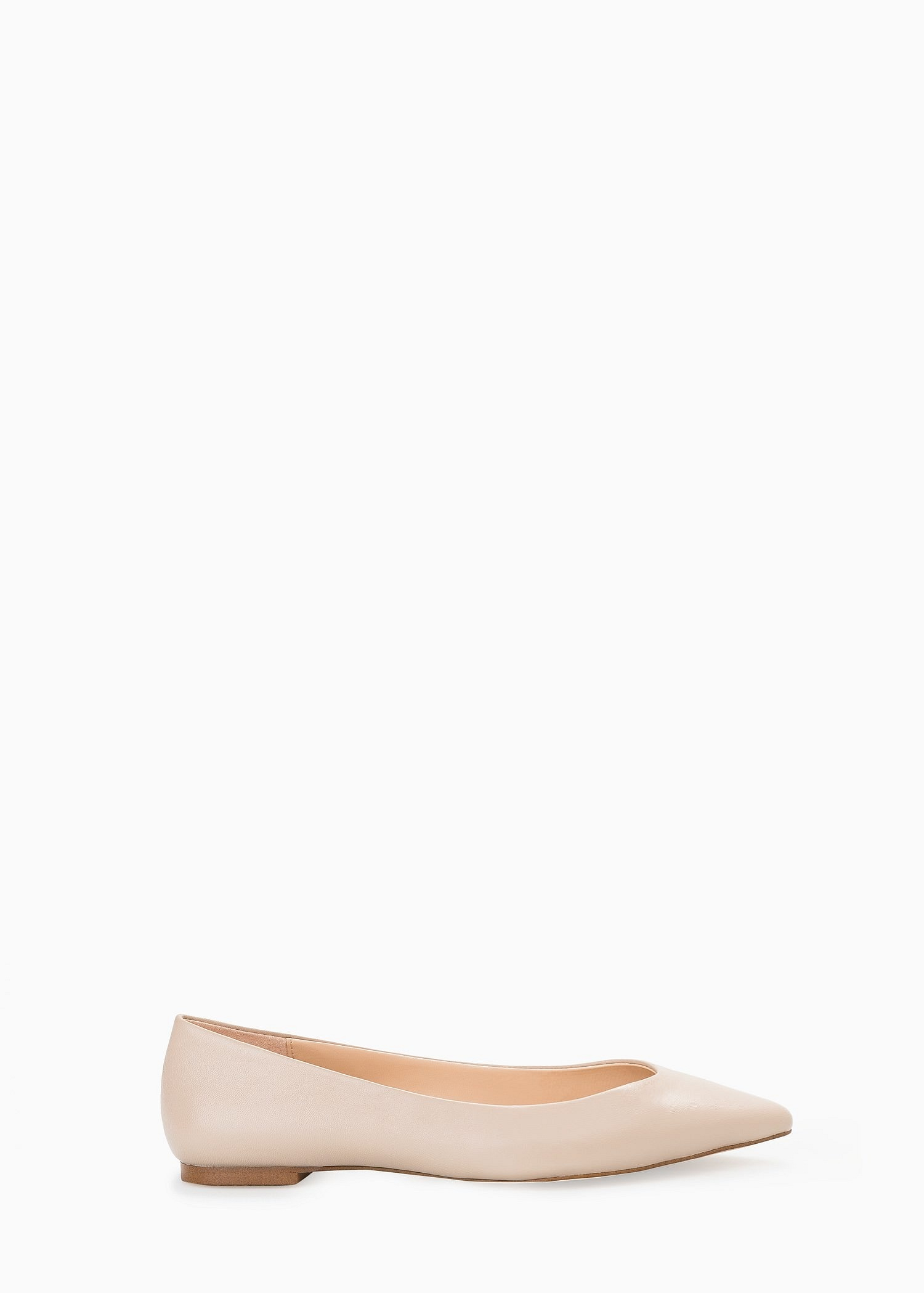 701fde2545 Lyst - Mango Leather Flat Shoes in White