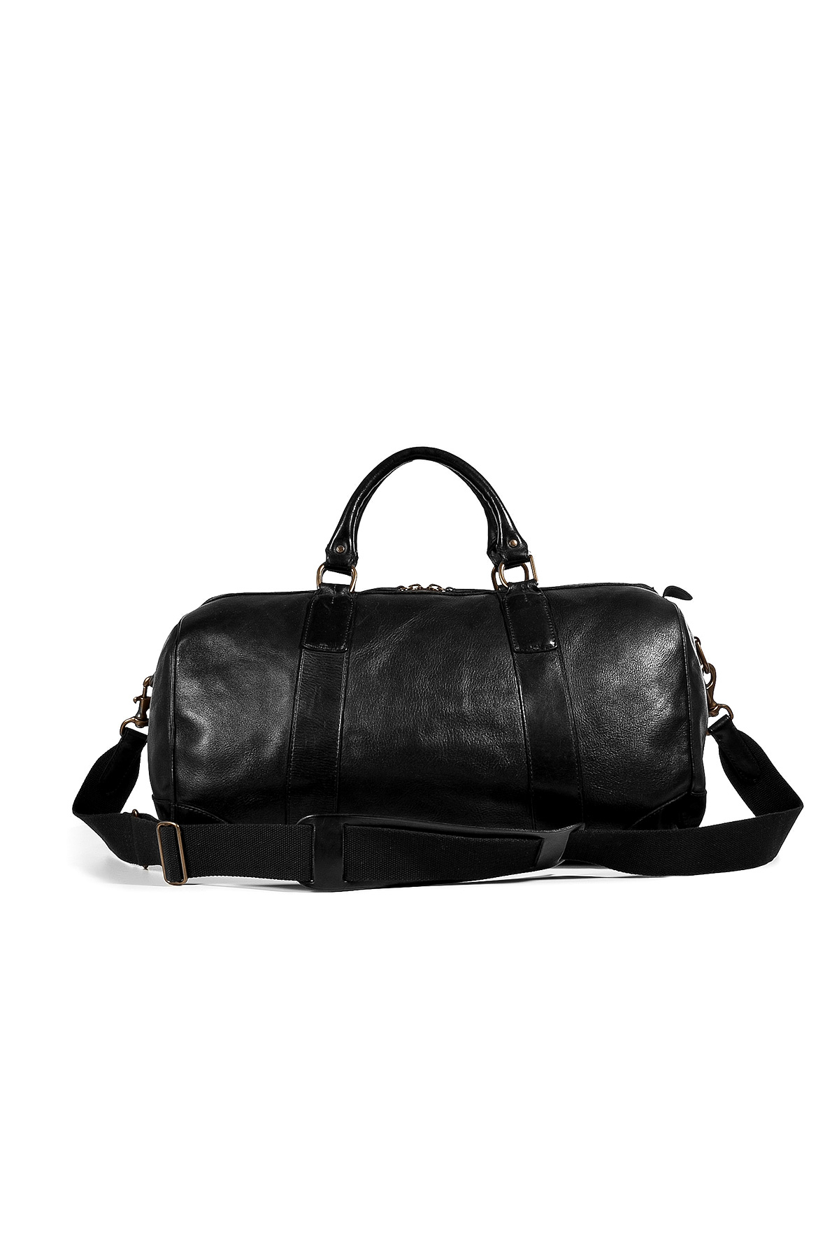 8748a6a1786e ... discount lyst polo ralph lauren leather overnight duffle bag in black  for men 2015e 7c3ed