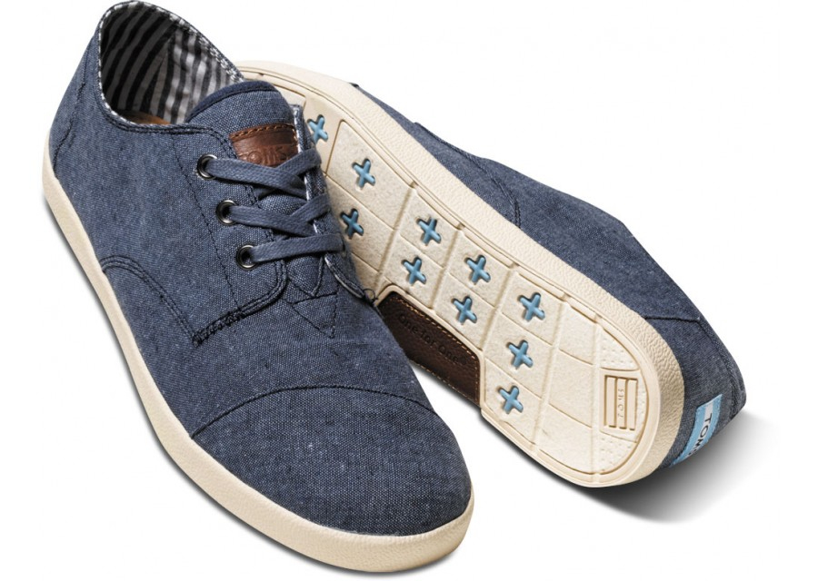 56547e4bd7f TOMS Blue Chambray Mens Paseos in Blue for Men - Lyst