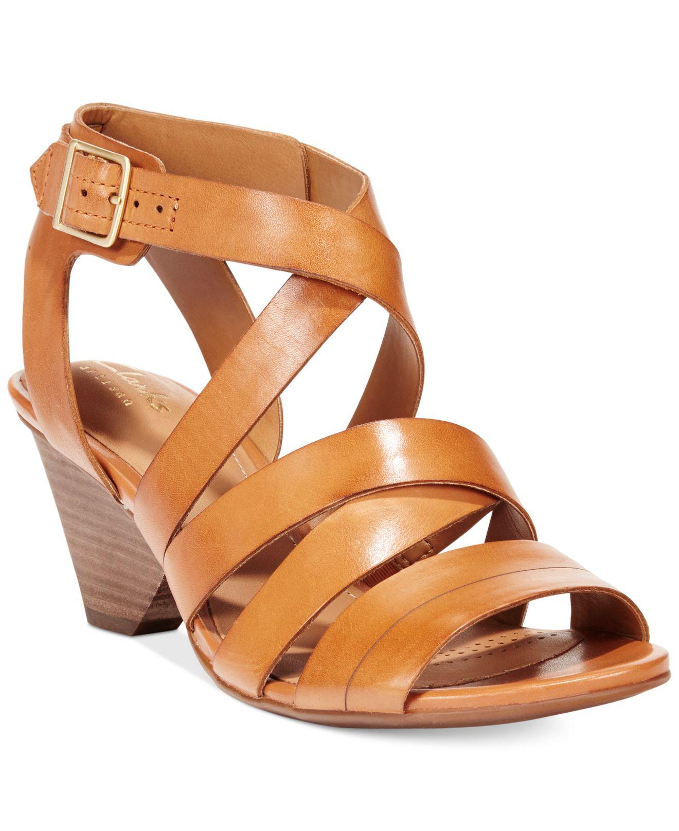 8783dfb3c9d7 Lyst Clarks Women S Ranae Estelle Dress Sandals In Brown