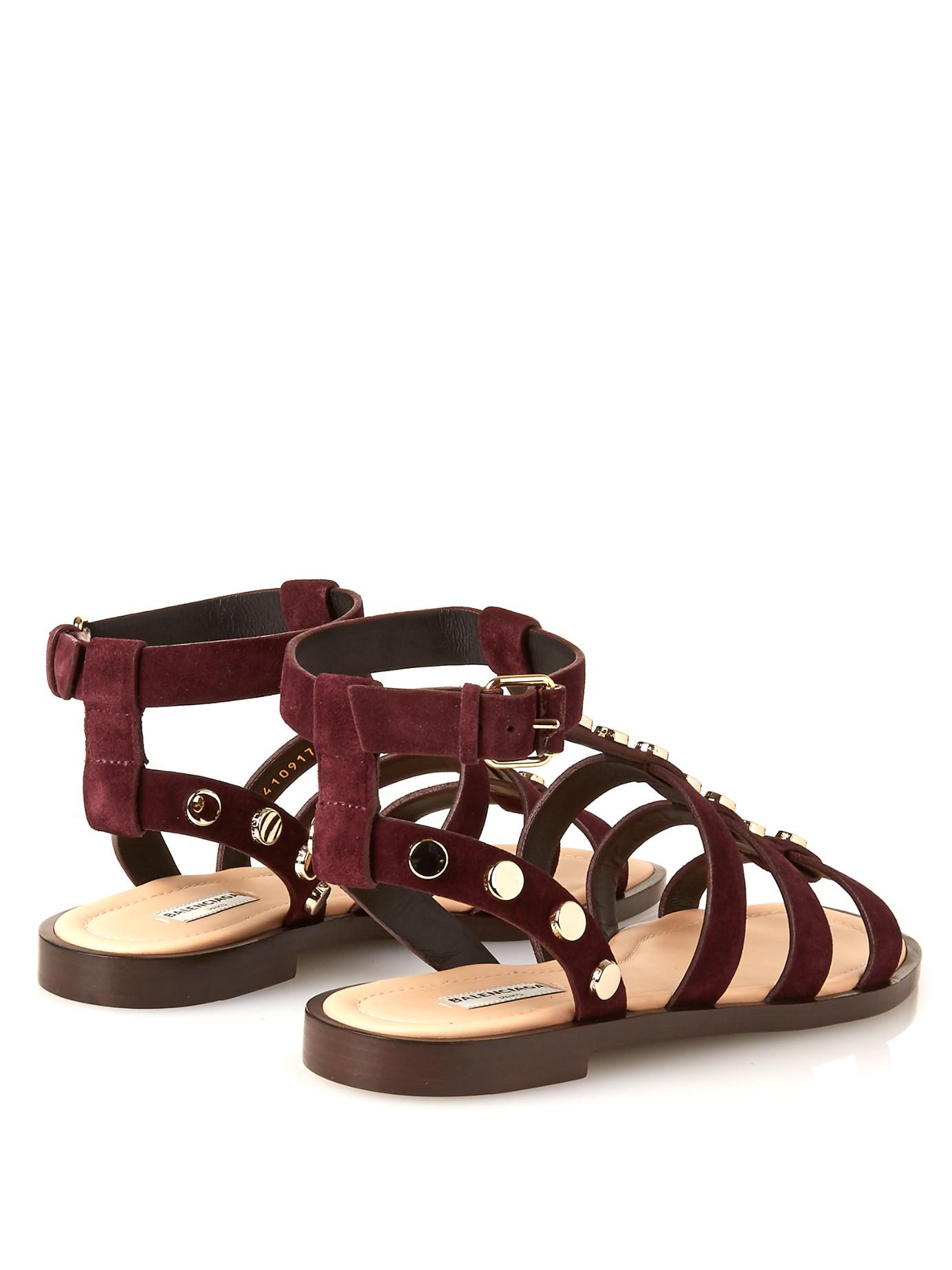 Balenciaga Sandals suede HScSje