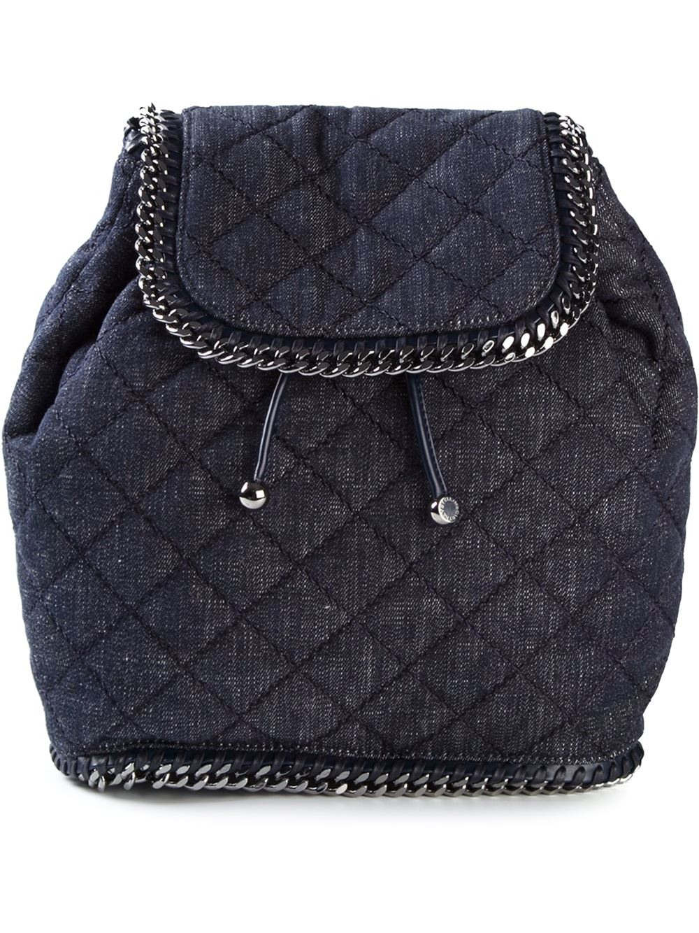 stella mccartney 39 falabella 39 denim backpack in blue lyst. Black Bedroom Furniture Sets. Home Design Ideas