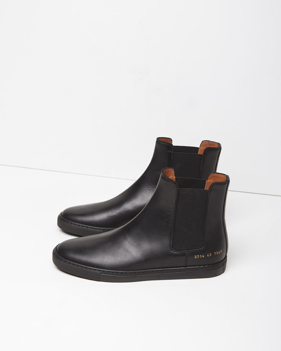 Lyst Common Projects Leather Chelsea Boots In Black For Men