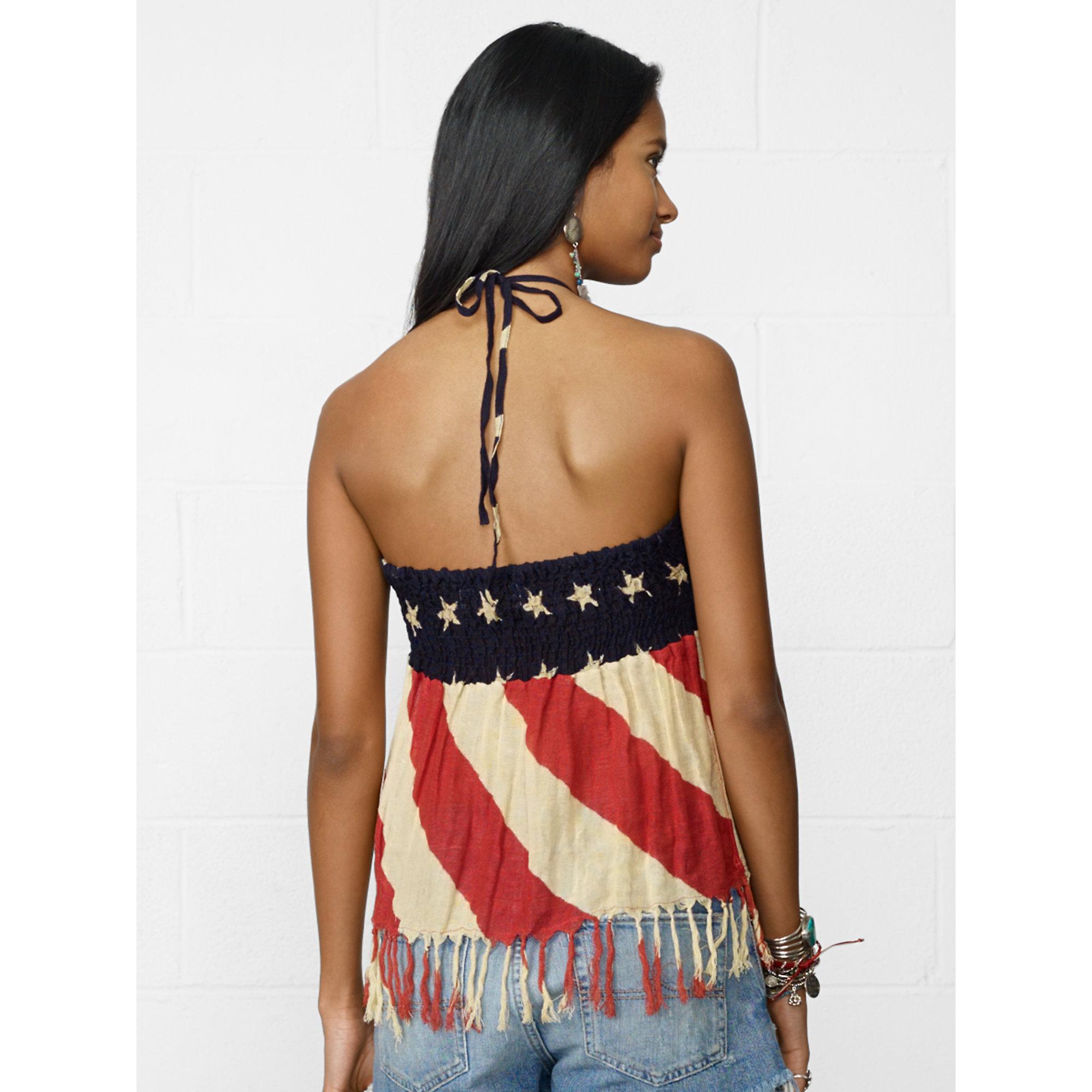 63f61e17697b7b Denim & Supply Ralph Lauren American Flag Halter Top - Lyst
