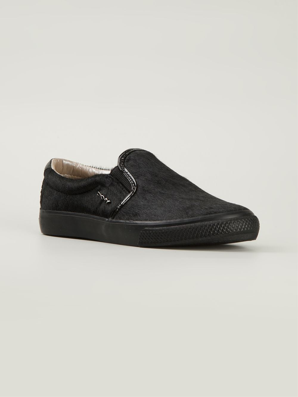Lyst Dkny Slip On Sneakers In Black