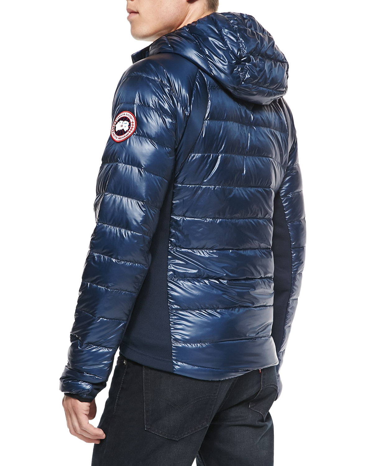 Canada goose Hybridge Featherweight Puffer Jacket in Blue ...