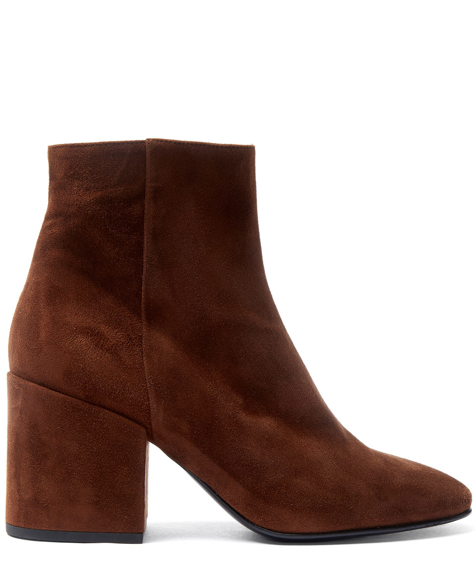 Dries van noten Brown Block Heel Suede Ankle Boots in Brown | Lyst